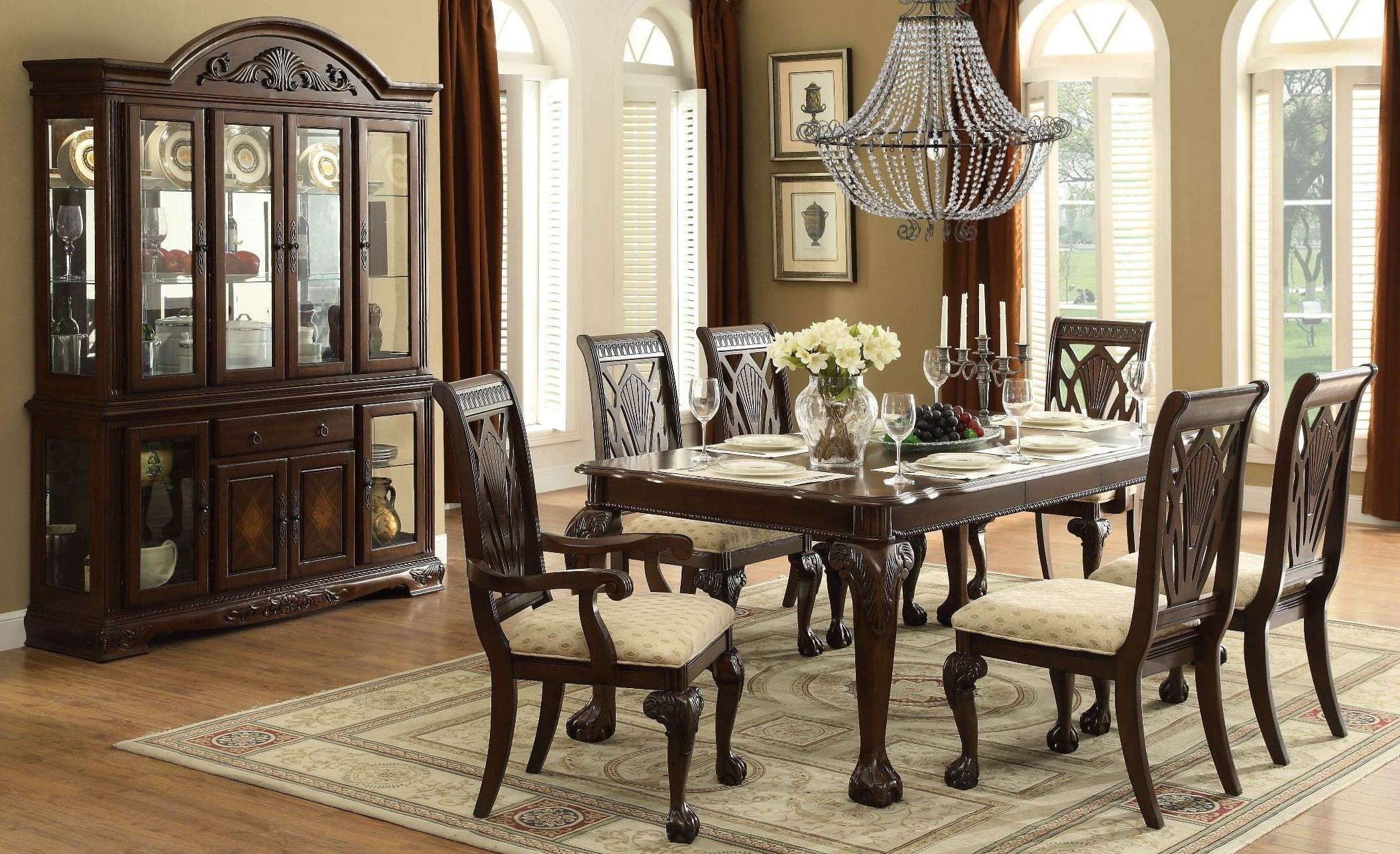 Norwich Warm Cherry Leg Dining Room Set from Homelegance ...