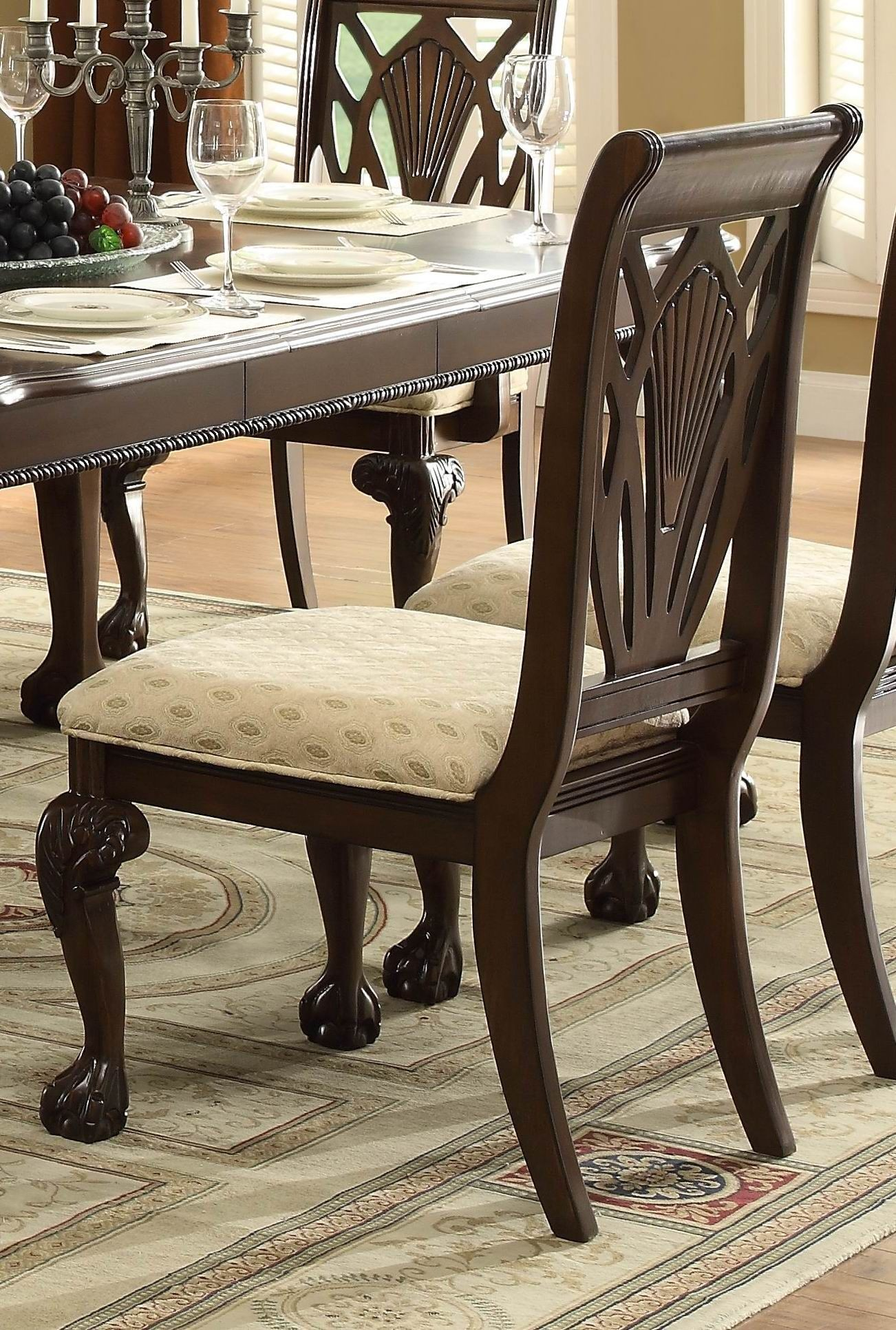 Norwich Warm Cherry Leg Dining Room Set From Homelegance 5055 82