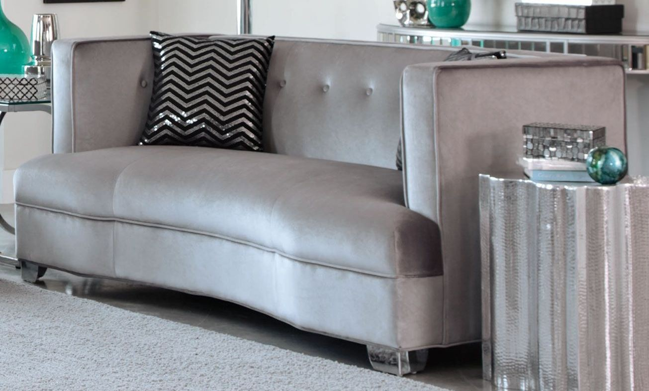Caldwell Silver Loveseat From Coaster 505882 Coleman Furniture
