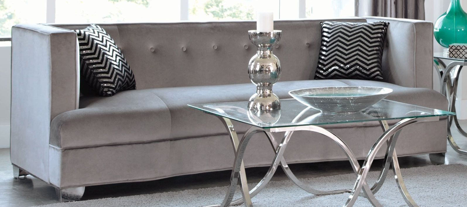Caldwell Silver Living Room Set from Coaster (505881) | Coleman ...