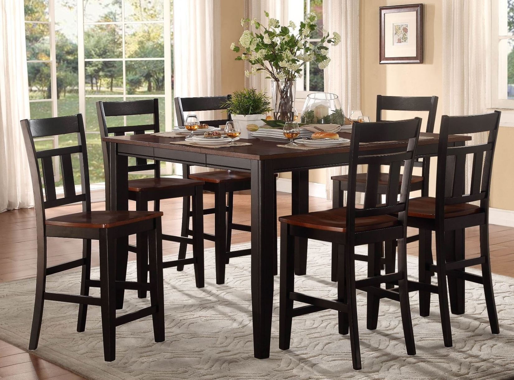 Westport Extendable Counter Height Dining Room Set From Homelegance 5079bk 36 Coleman Furniture
