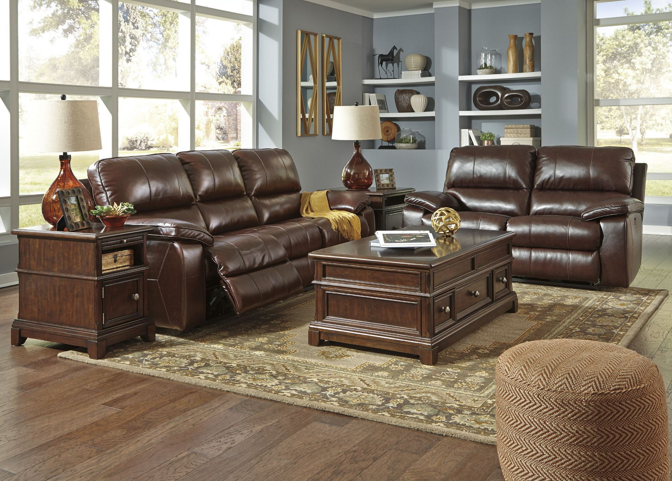 Transister Coffee Power Reclining Sofa from Ashley | Coleman Furniture