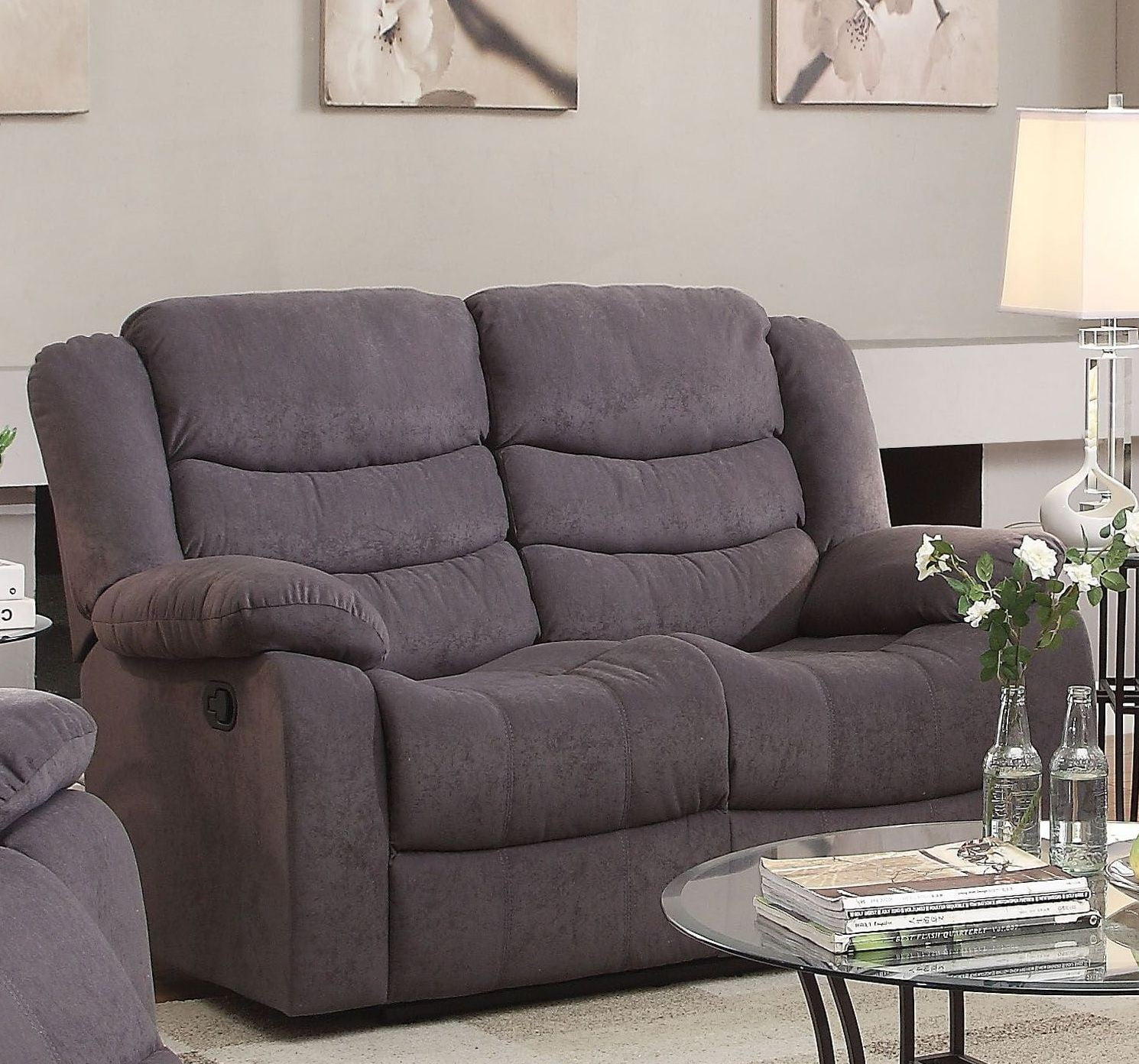 with sofas set gray couches loveseat perfect reclining and