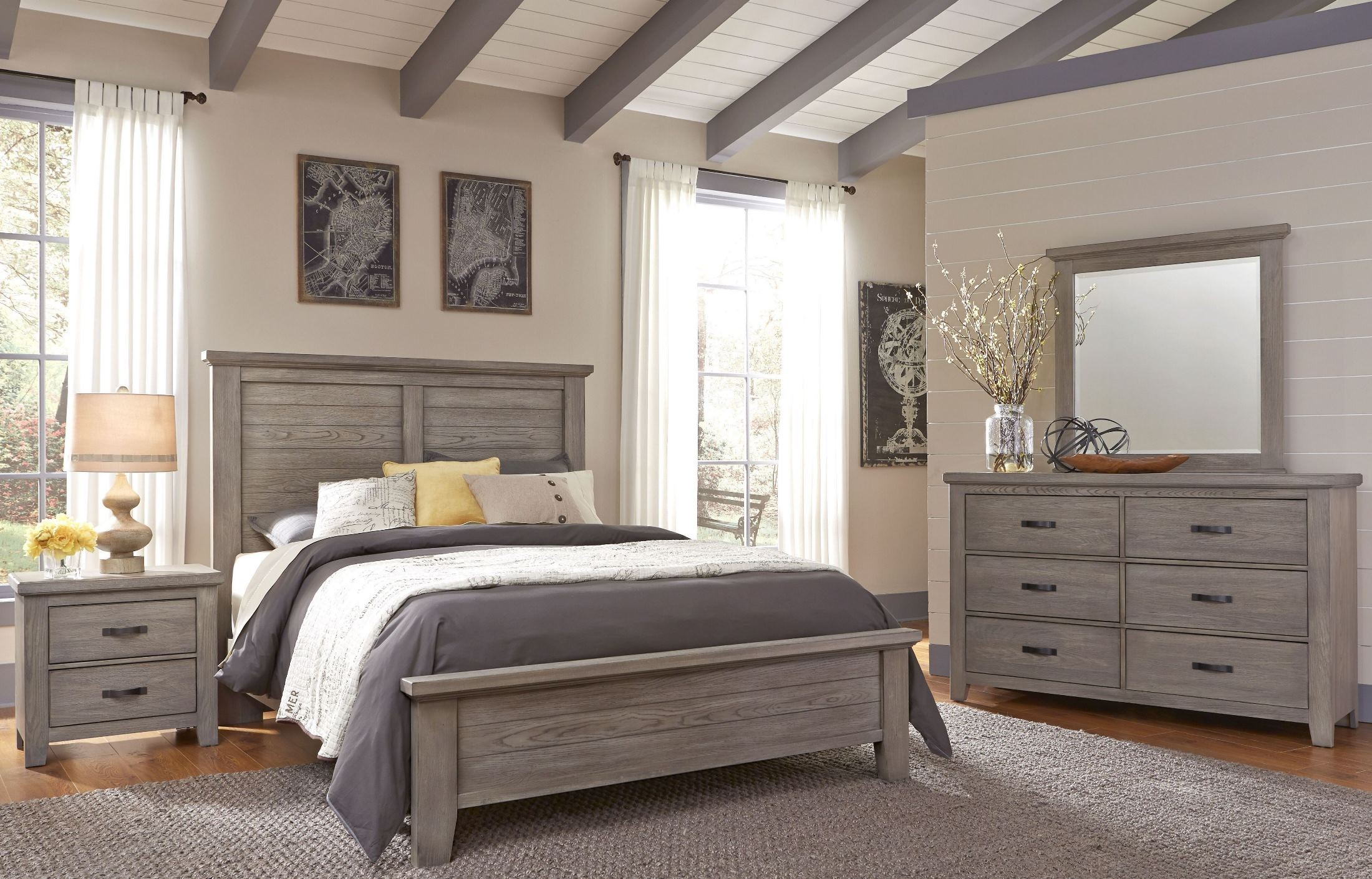 cassel park weathered gray plank bedroom set from virginia house coleman furniture. Black Bedroom Furniture Sets. Home Design Ideas