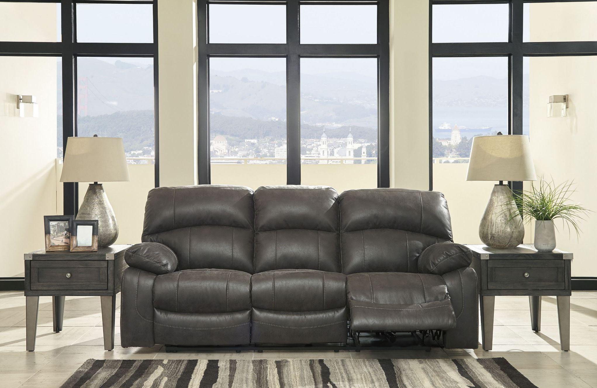 Dunwell Steel Power Reclining Sofa With Adjustable