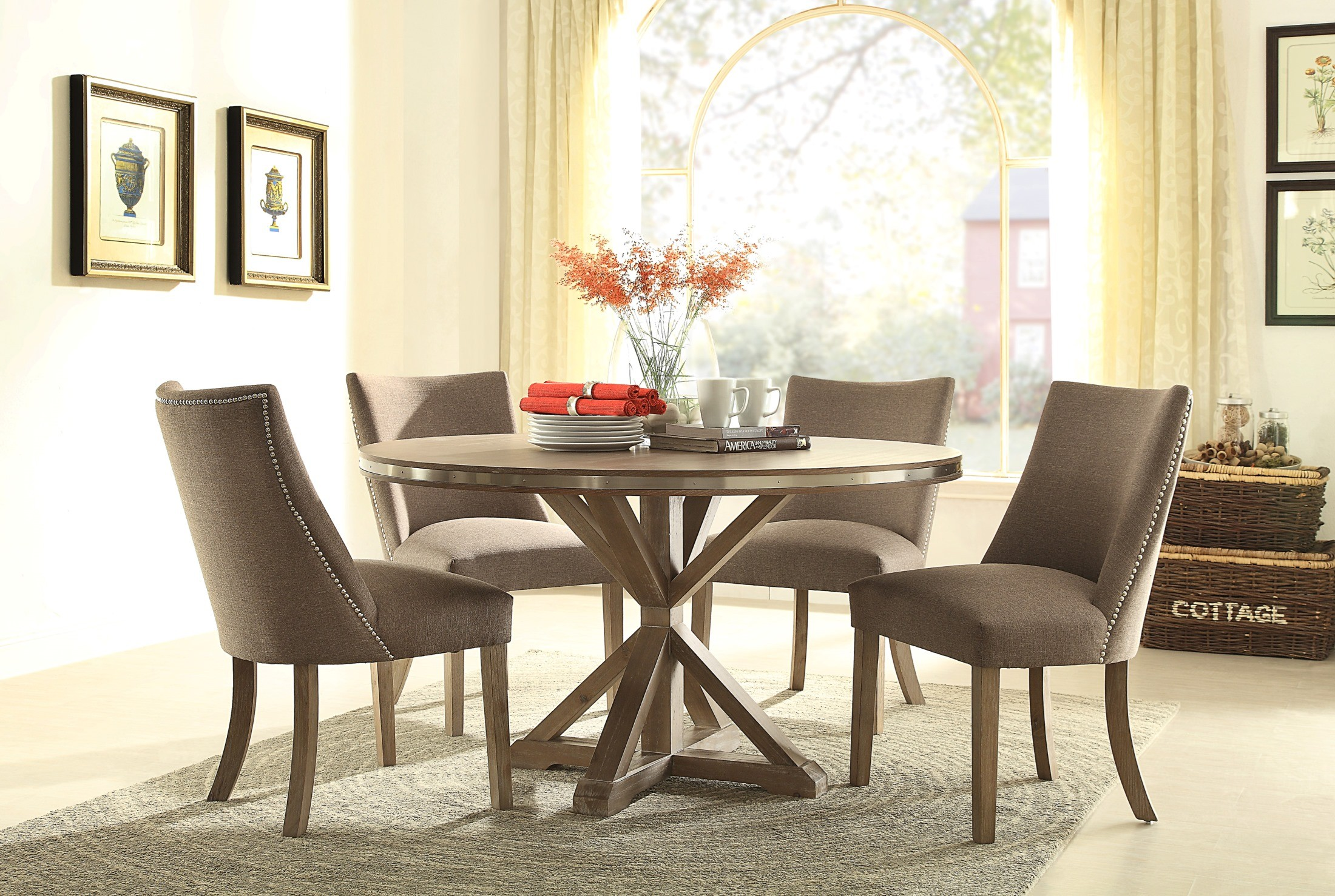 beaugrand round dining room set from homelegance coleman fur