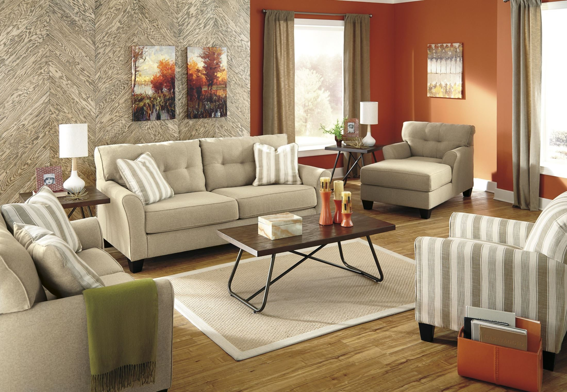 laryn khaki living room set from ashley 5190238 coleman furniture. Black Bedroom Furniture Sets. Home Design Ideas