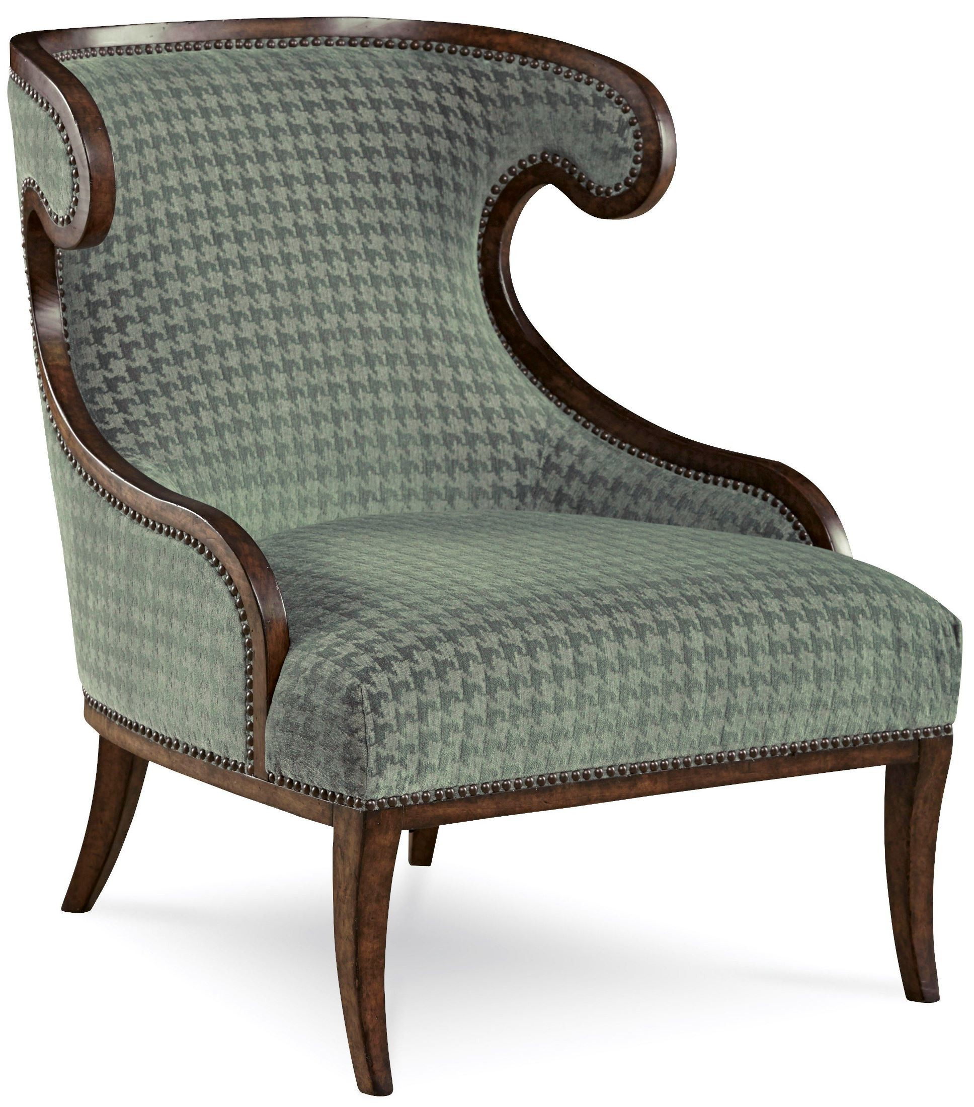 Palazzo misty teal upholstered accent chair from art