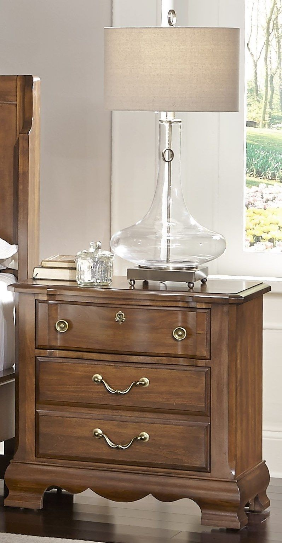 Villa Sophia Antique Cherry Sleigh Bedroom Set, 522-553