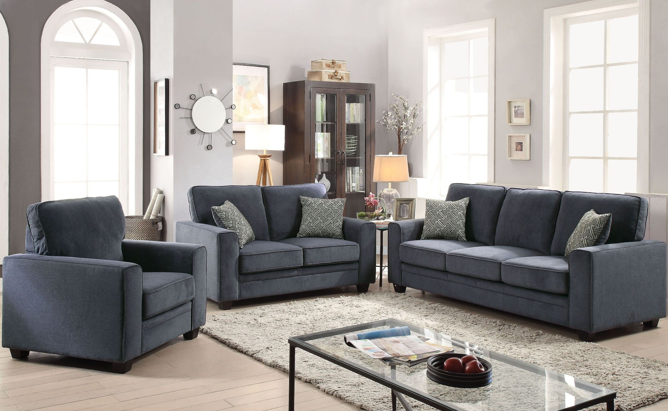 Catherine Blue Living Room Set from Acme