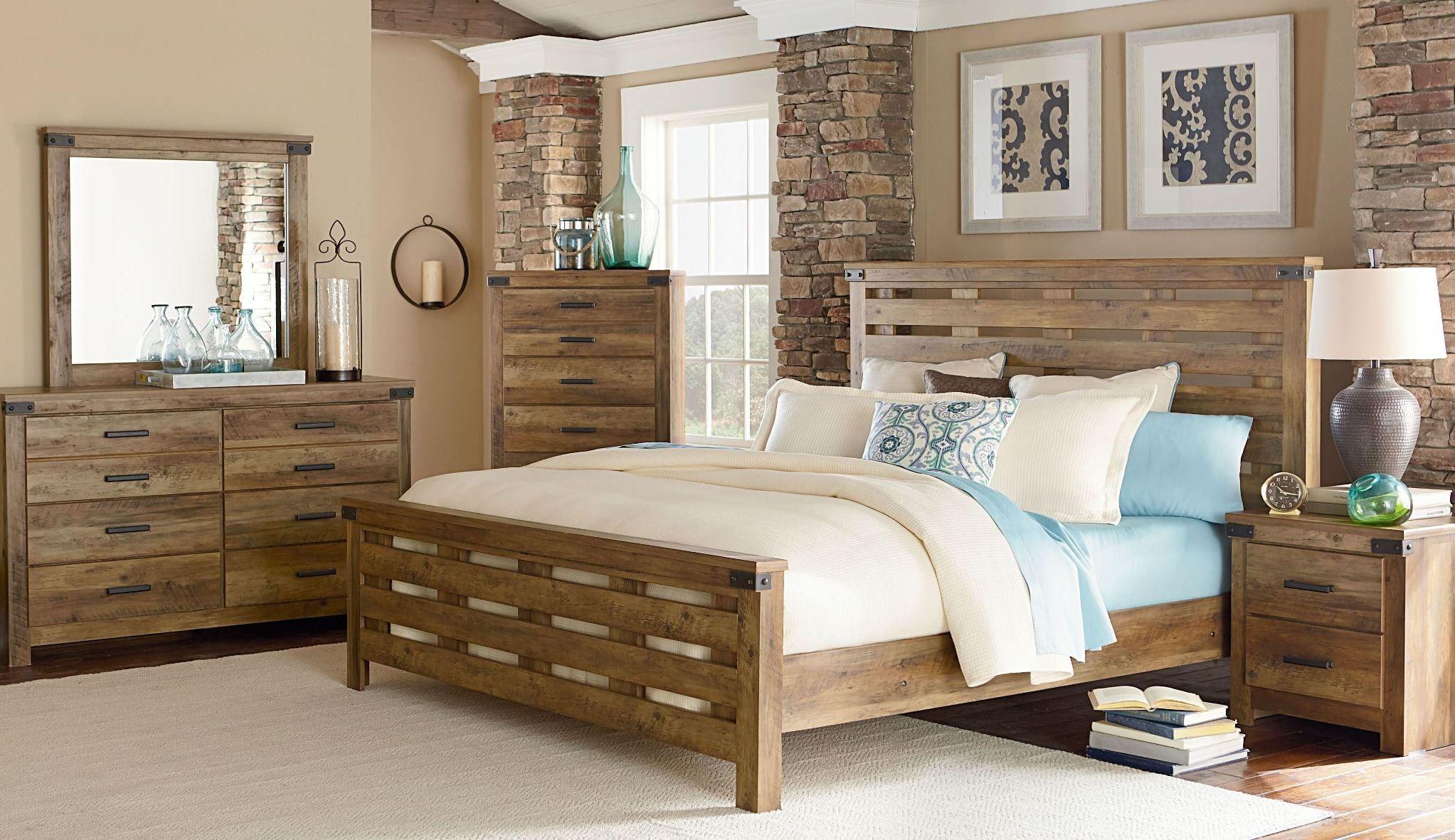 montana rustic buckskin panel bedroom set from standard furniture coleman furniture. Black Bedroom Furniture Sets. Home Design Ideas