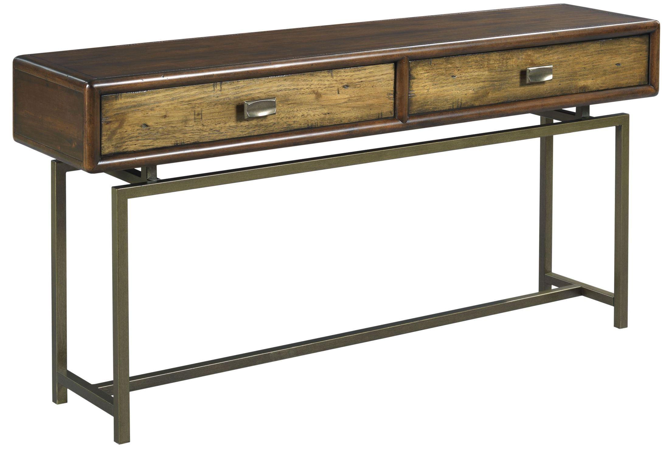 Zodiac warm brown acacia sofa table from hammary 527 925 for 5 sofa table
