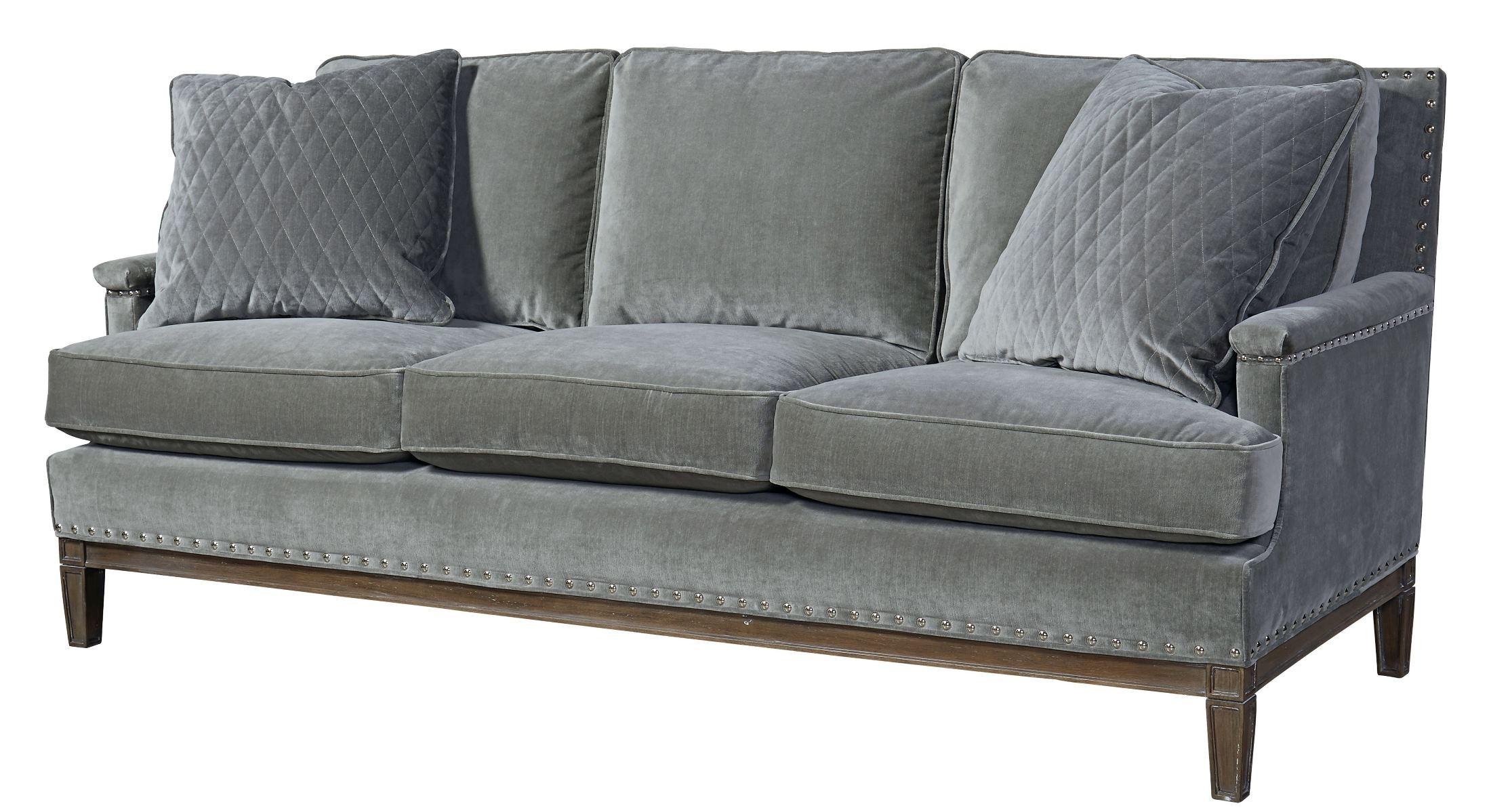 Prescott Gray Velvet Sofa From Universal Coleman Furniture