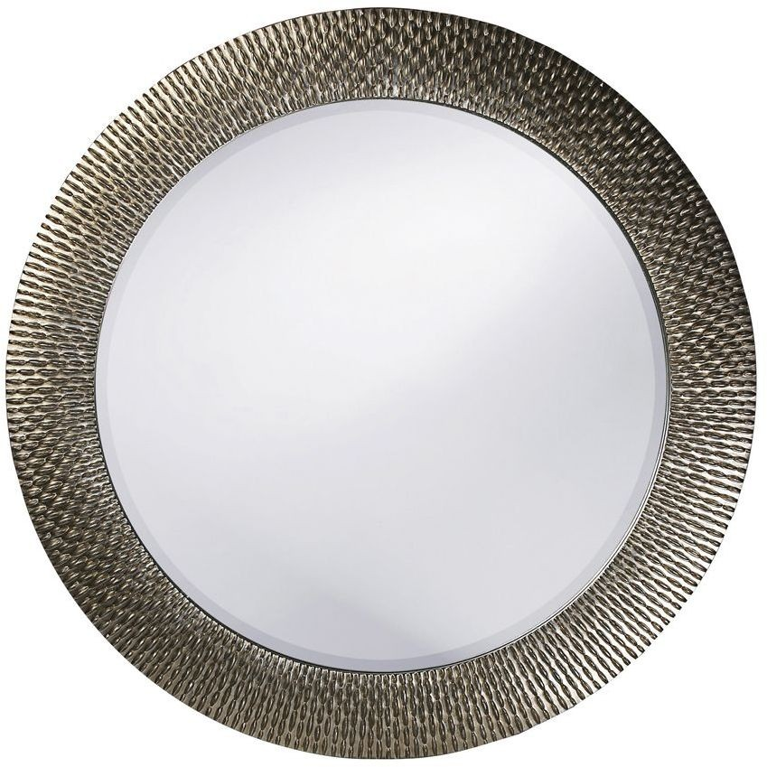 Bergman silver round small mirror from howard elliott for Small silver mirror