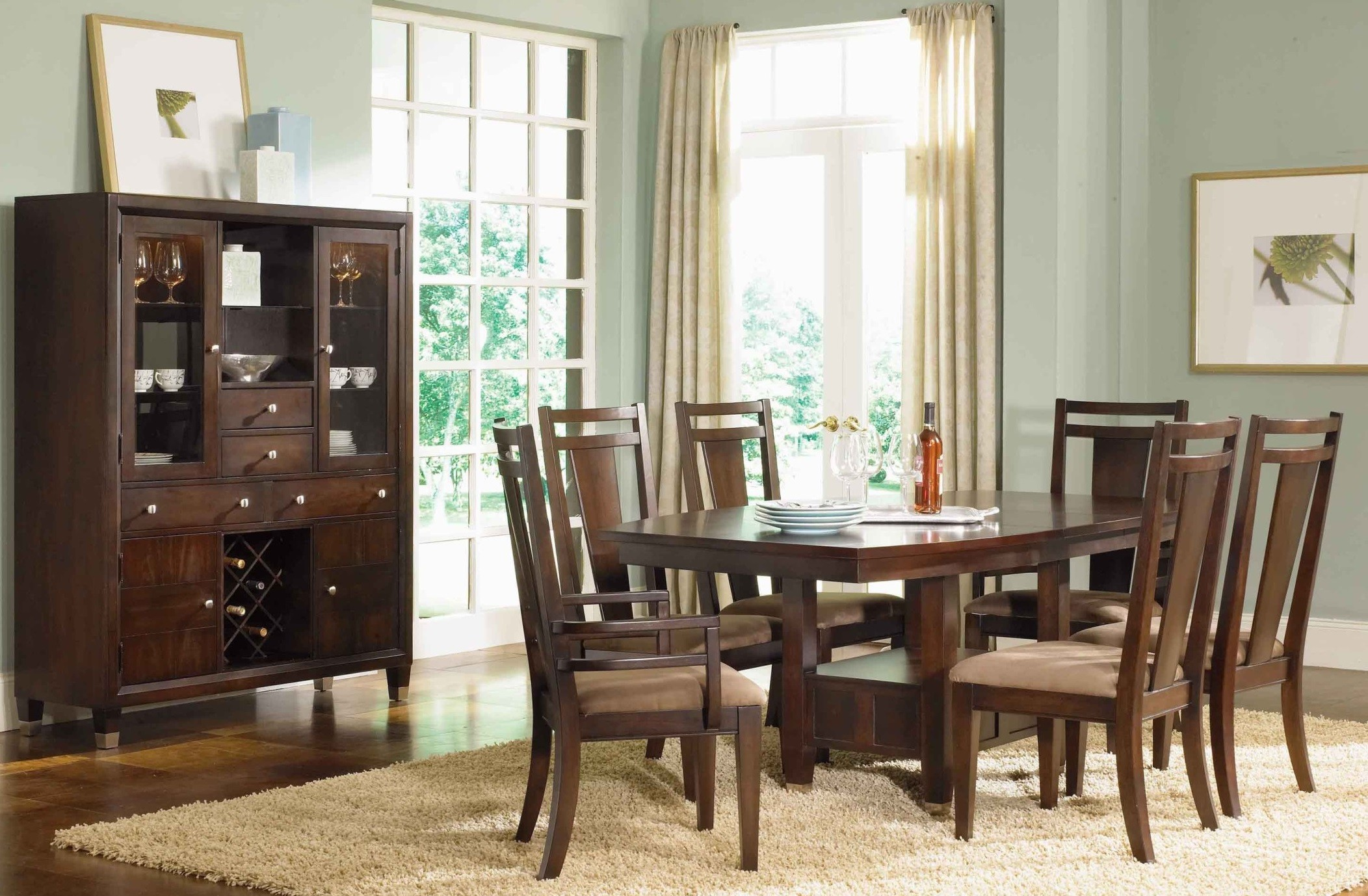 northern lights extendable dining room set from broyhill | coleman