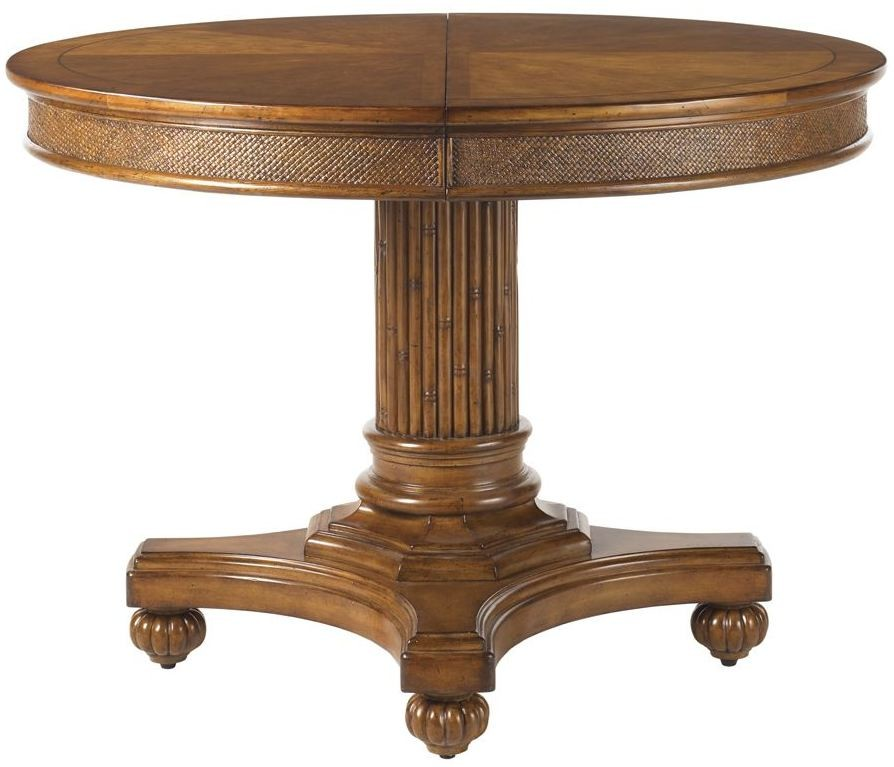 Island estate plantation brown cayman extendable kitchen table from tommy bahama coleman furniture - Brown kitchen table ...
