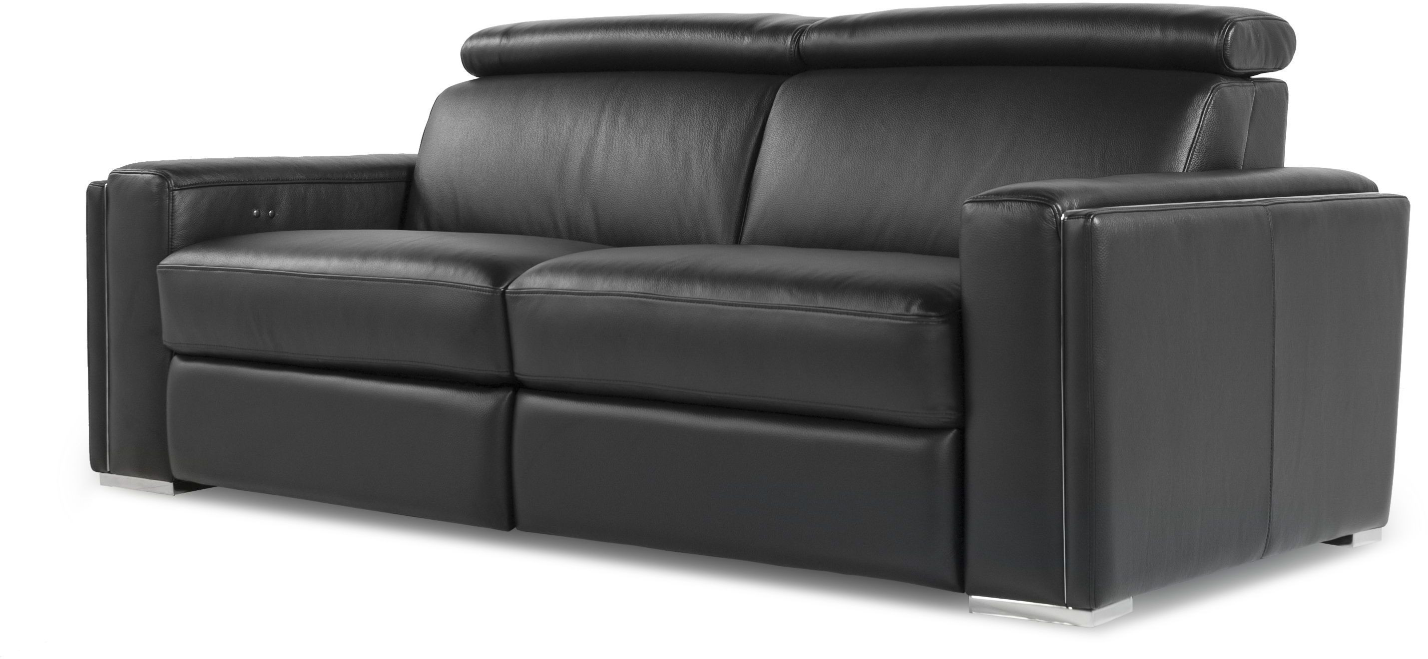 Ellie Black Top Grain Leather Reclining Sofa From Moroni