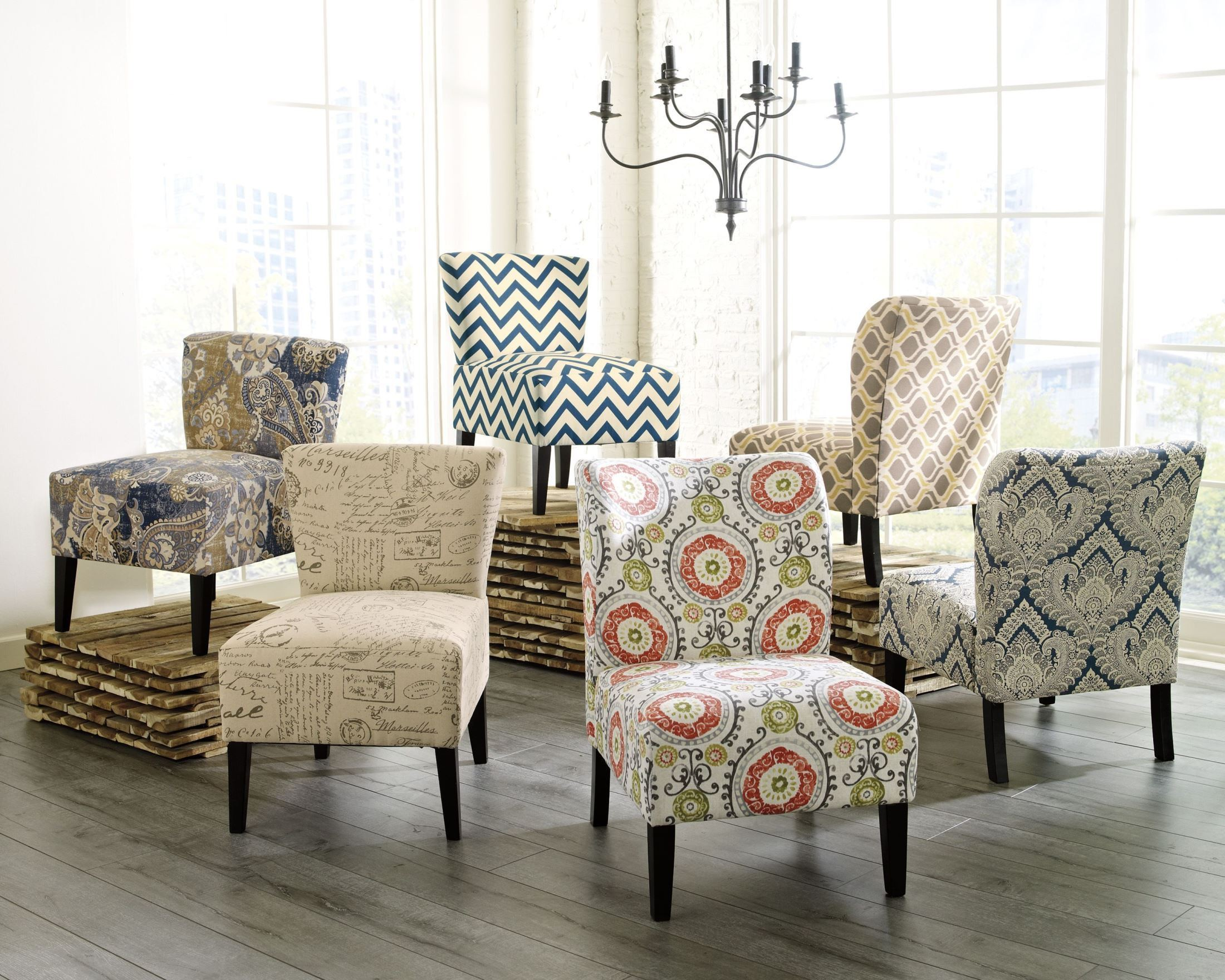 Floral accent chairs living room Floral living room furniture sets