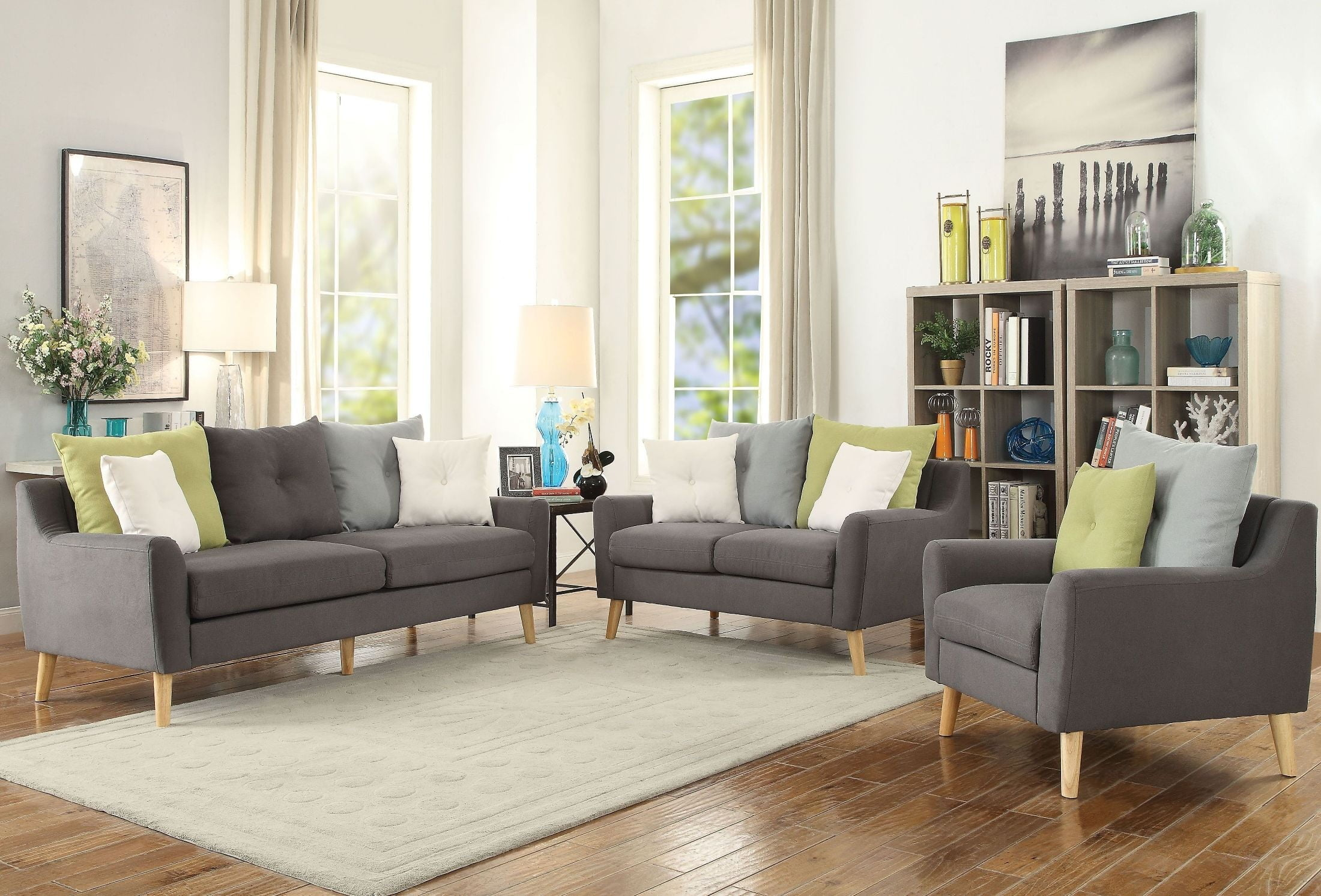 Amie Gray Living Room Set from Acme | Coleman Furniture
