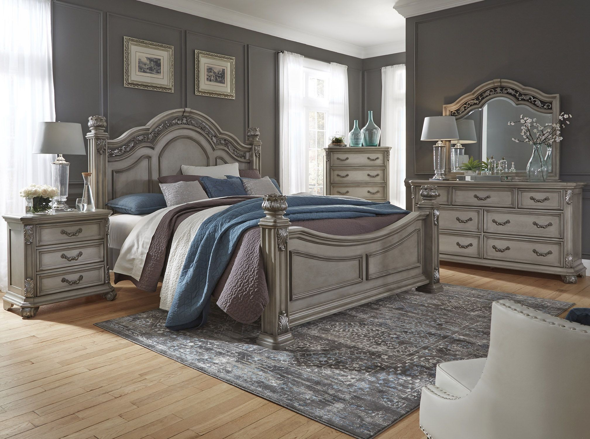 messina estates bedroom gray poster bedroom set from liberty coleman furniture. Black Bedroom Furniture Sets. Home Design Ideas