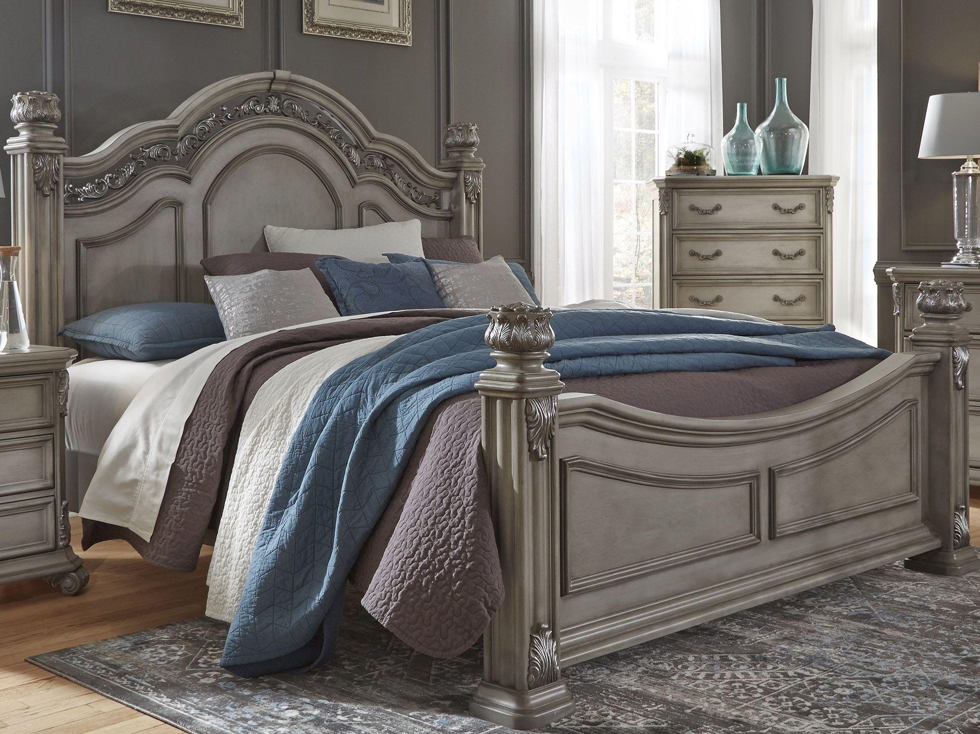 Messina Estates Bedroom Gray Poster Bedroom Set From Liberty Coleman Furniture