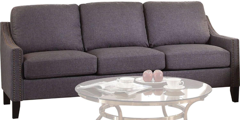 Zapata Jr Gray Linen Sofa