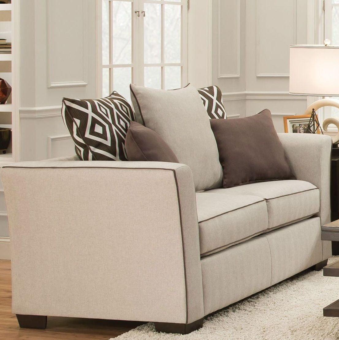 Stewart Oyster Linen Loveseat from Acme | Coleman Furniture