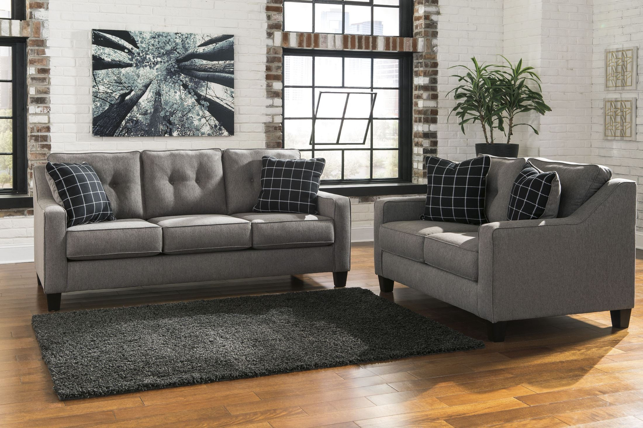 Brindon Charcoal Living Room Set From Ashley 5390138