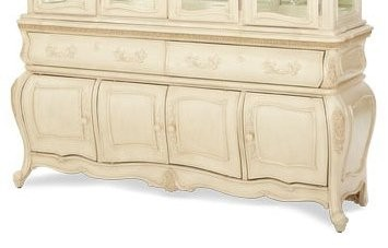 Lavelle blanc buffet from aico 54006 04 coleman furniture - Buffet baroque blanc ...