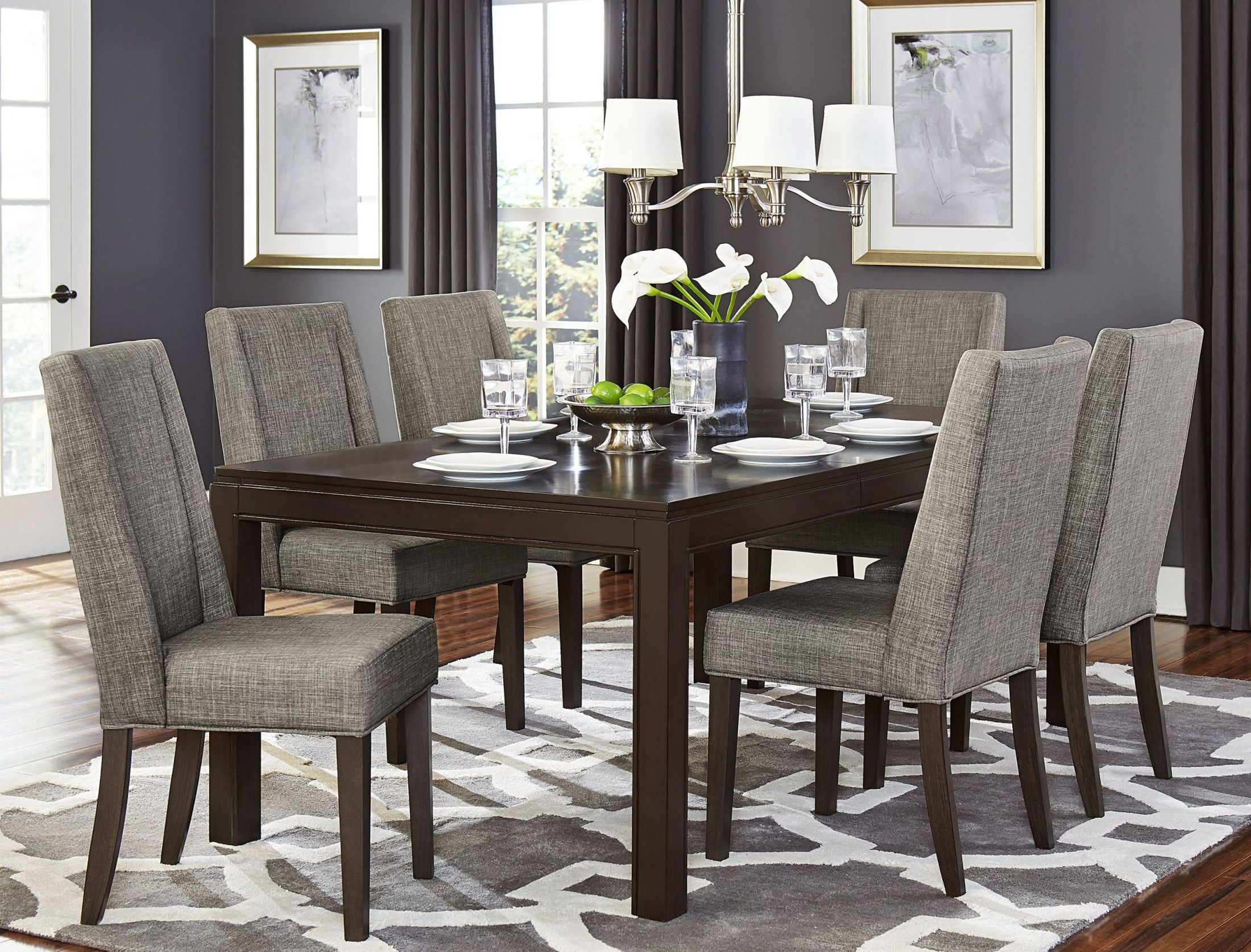 Kavanaugh Brown Rectangular Extendable Dining Room Set From Homelegance Col