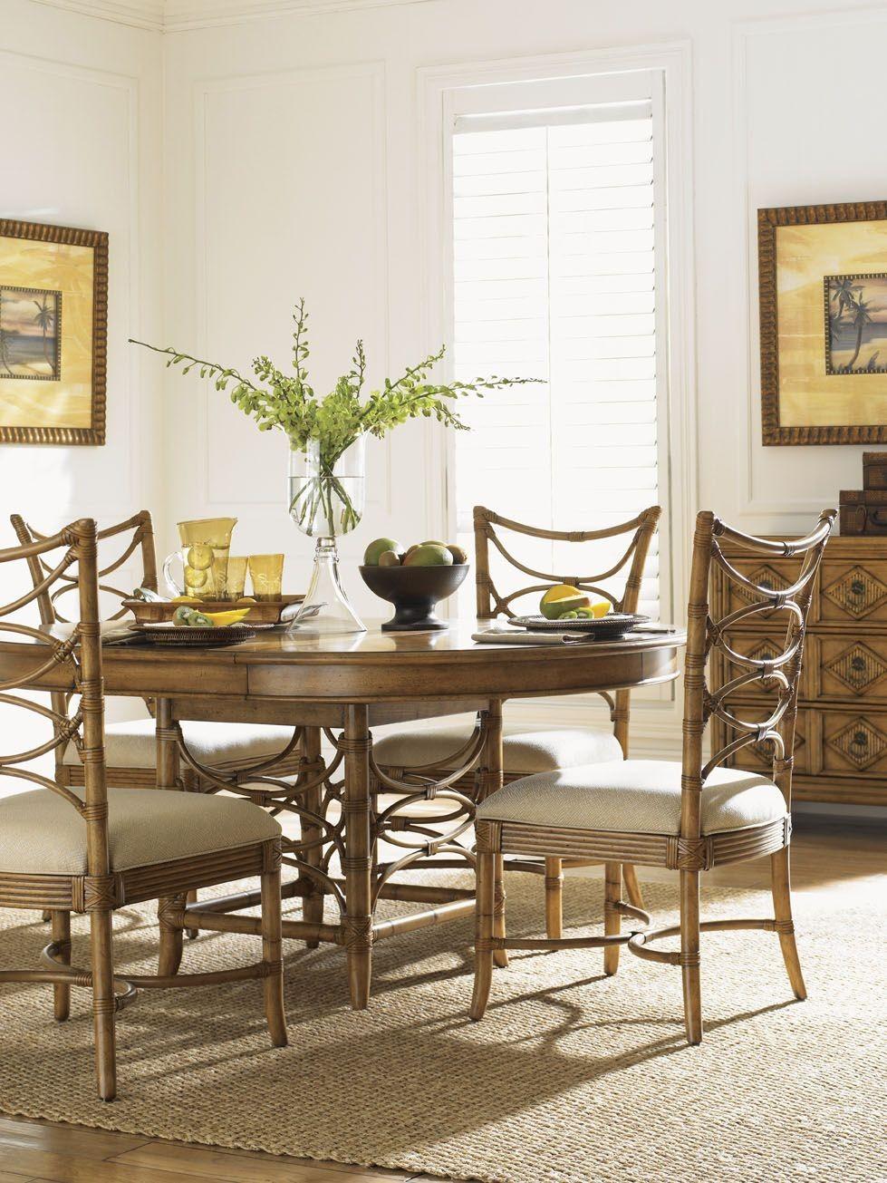 beach house dining room sets | Beach House Coconut Grove Extendable Round Dining Room Set ...