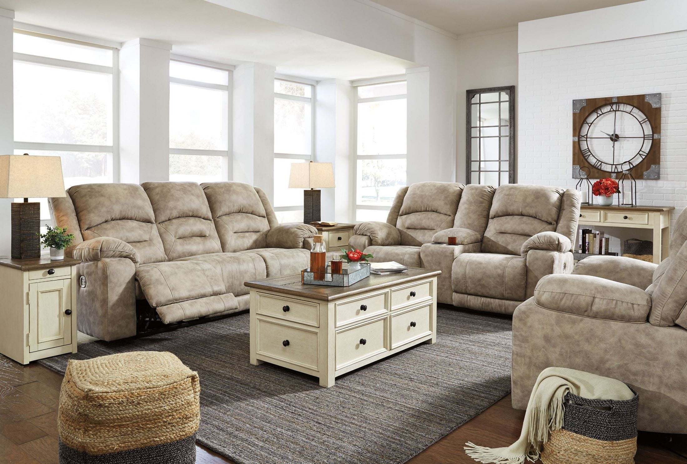 McGinty Graystone Power Reclining Living Room Set From Ashley | Coleman  Furniture