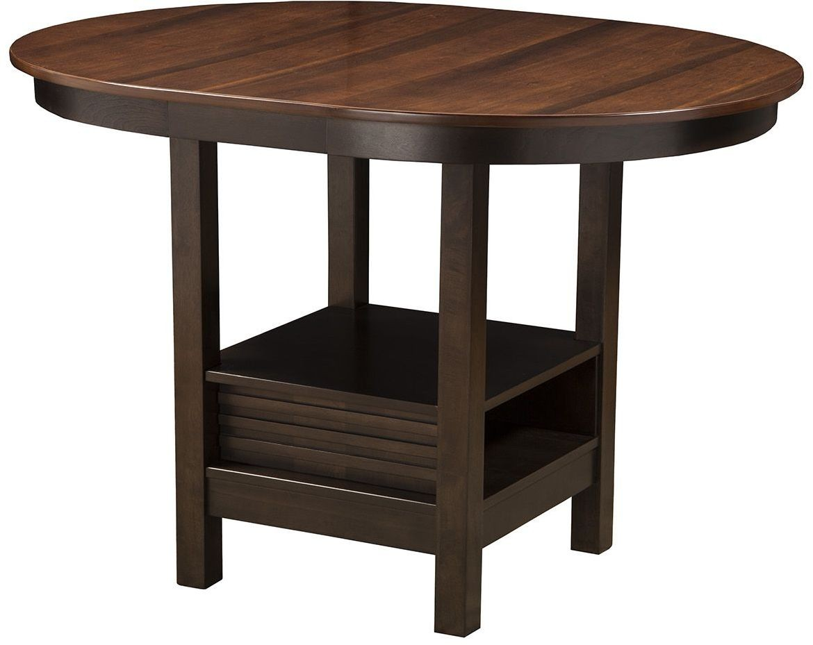 Davenport Espresso Oval Pub Table From Alpine Coleman Furniture