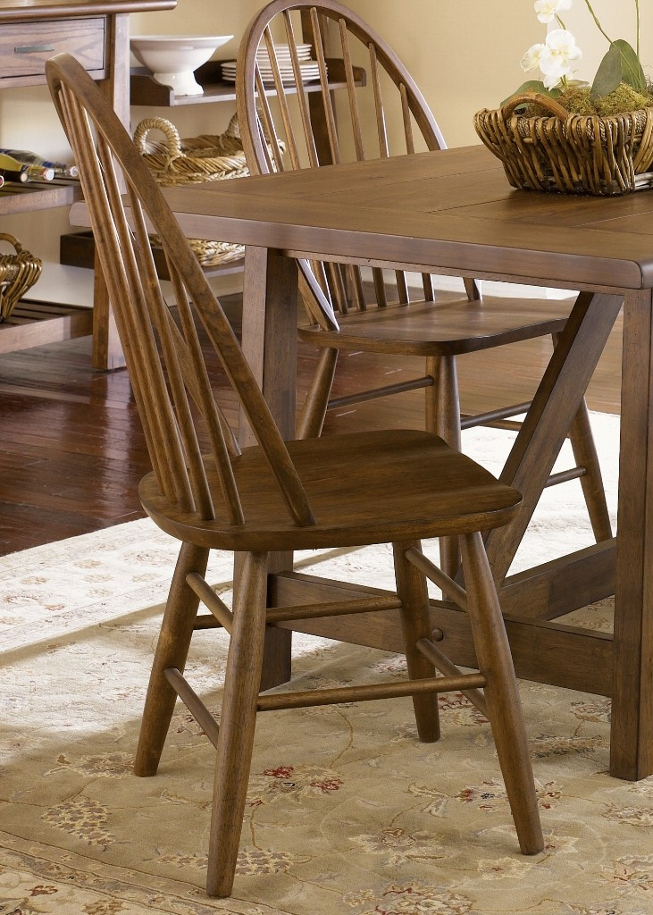 Farmhouse Trestle Dining Set From Liberty 139 T4002