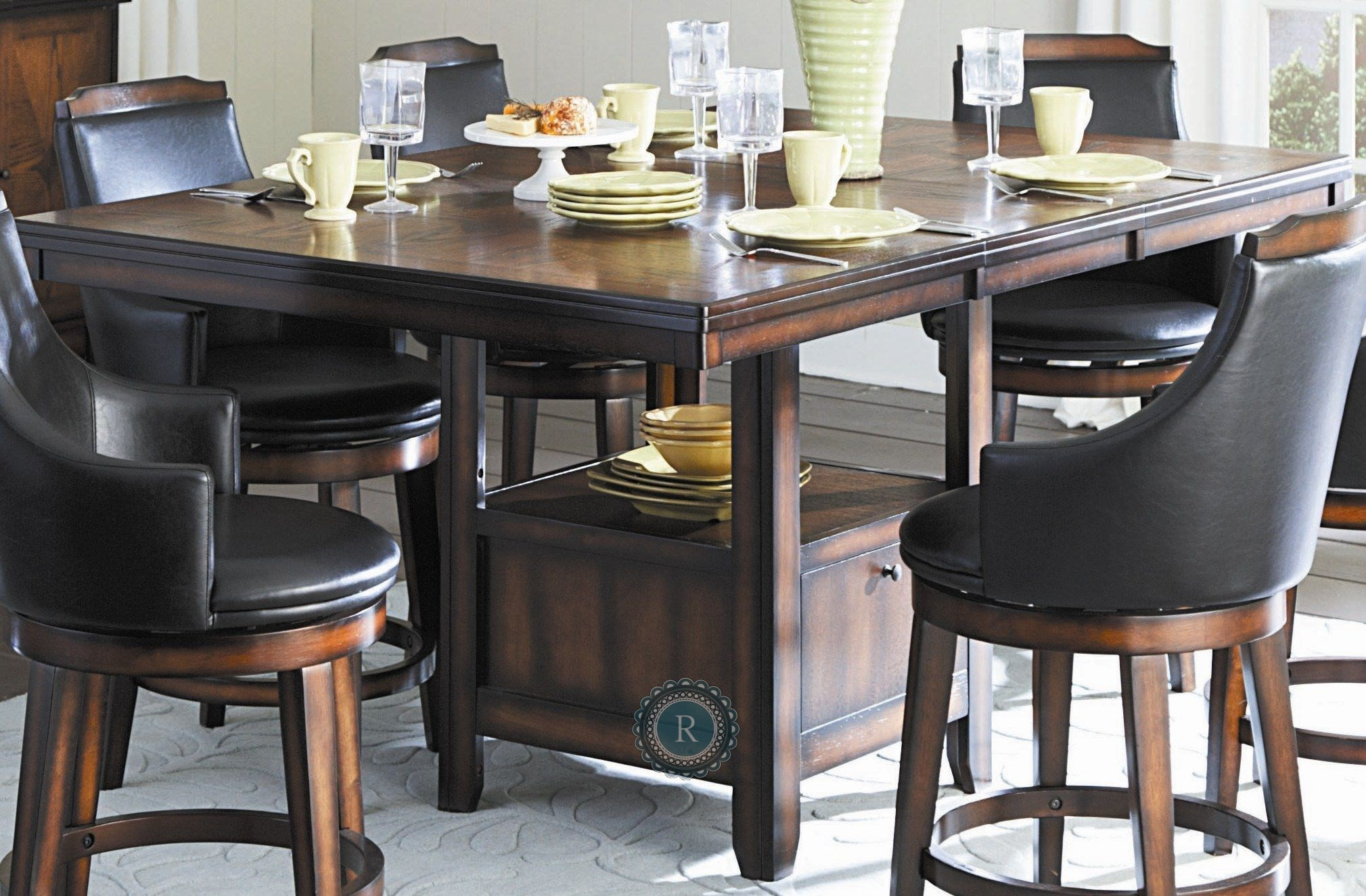 bayshore extendable counter height table from homelegance