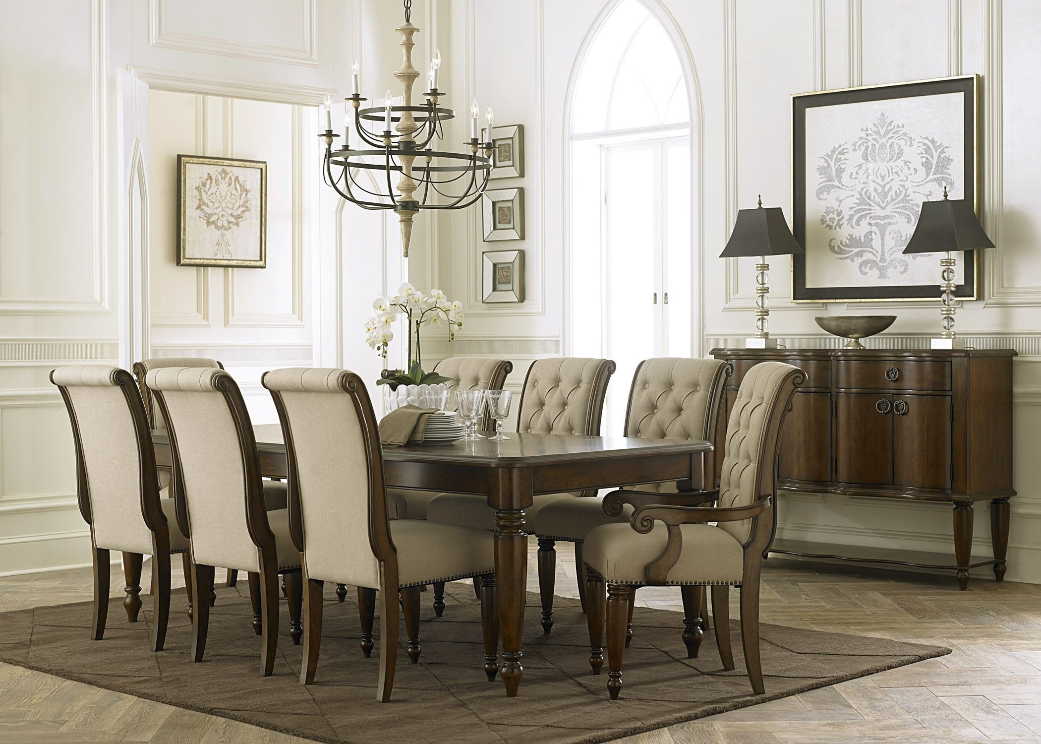 Cotswold Cinnamon Rectangular Leg Dining Room Set from Liberty ...