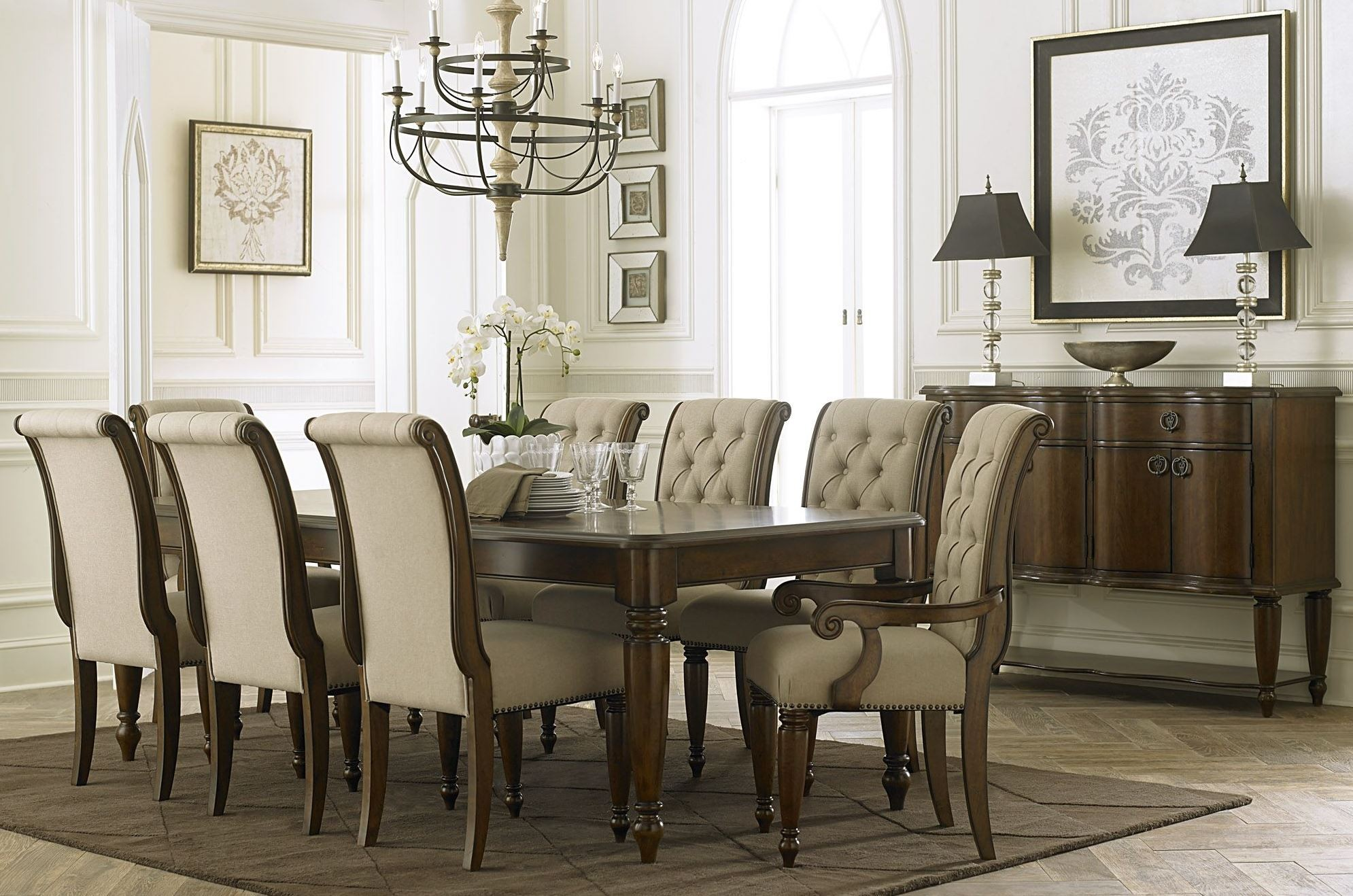 Cotswold Cinnamon Rectangular Leg Extendable Dining Room