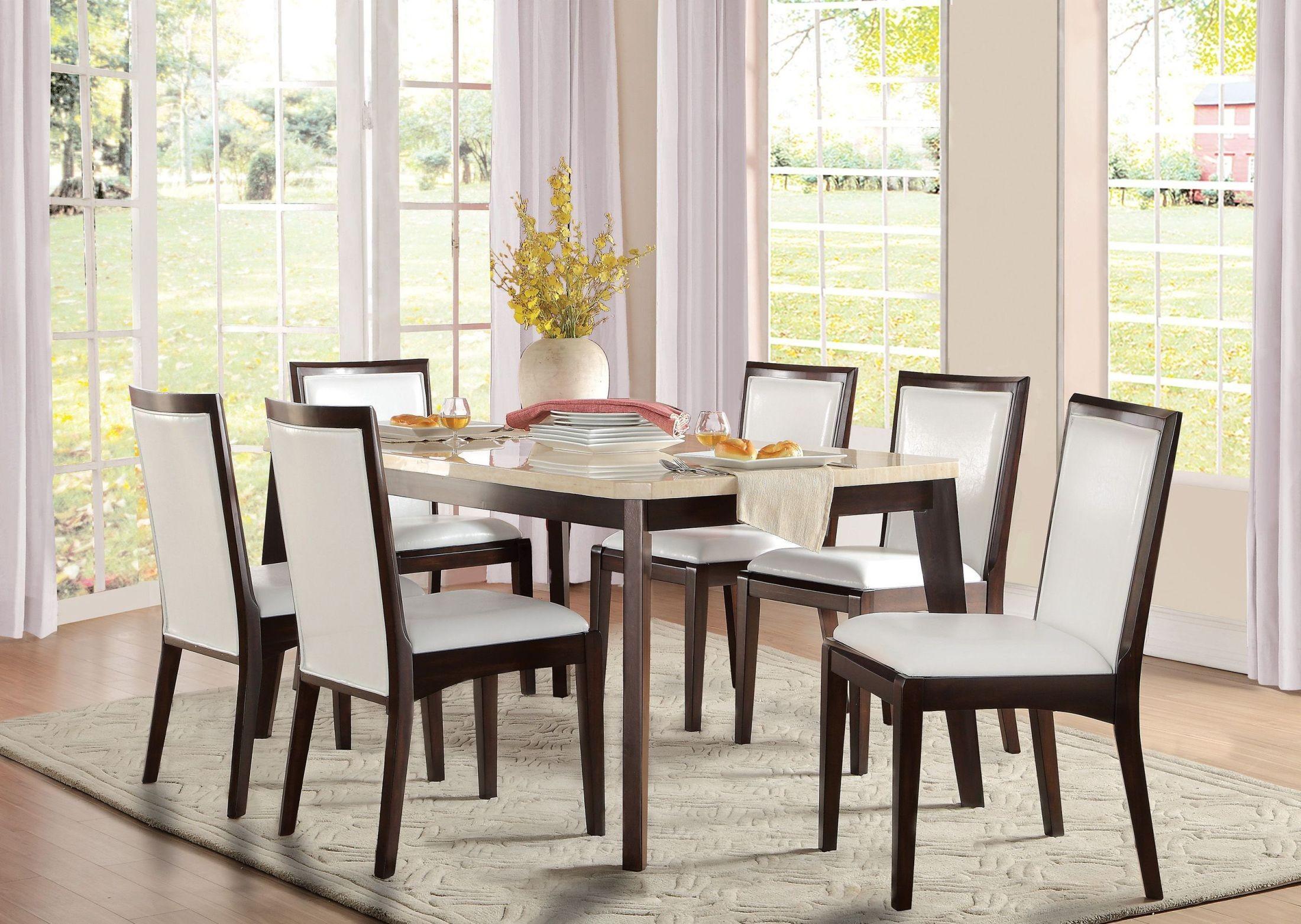 Tijeras brown dining room set from homelegance coleman for Brown dining room set
