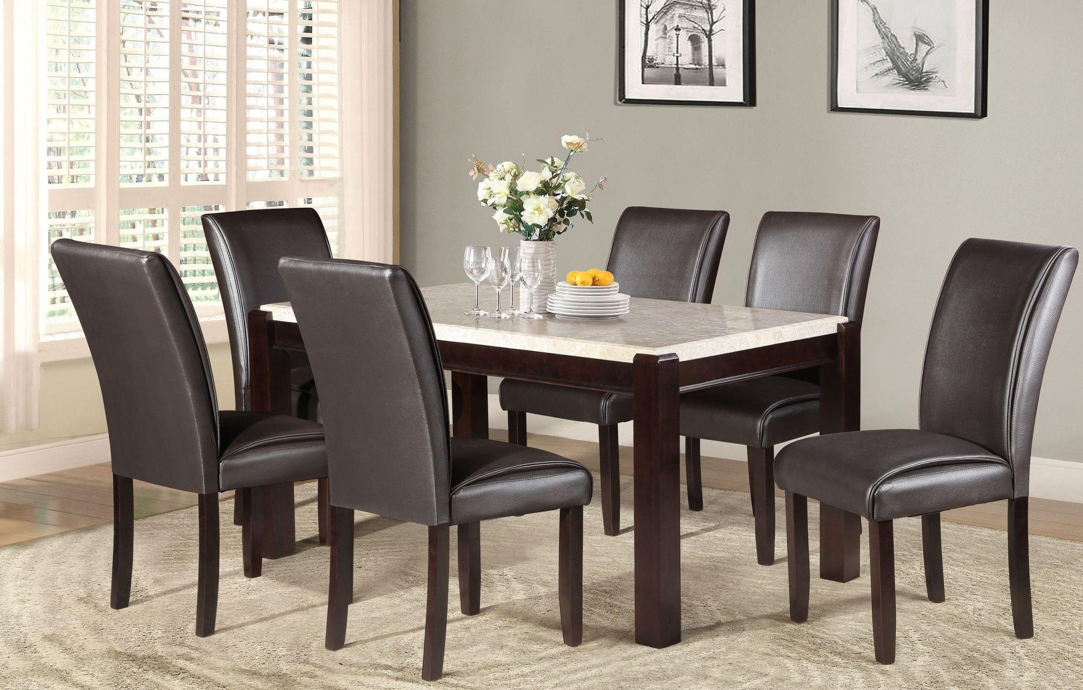 Festus brown dining room set from homelegance coleman for Brown dining room set