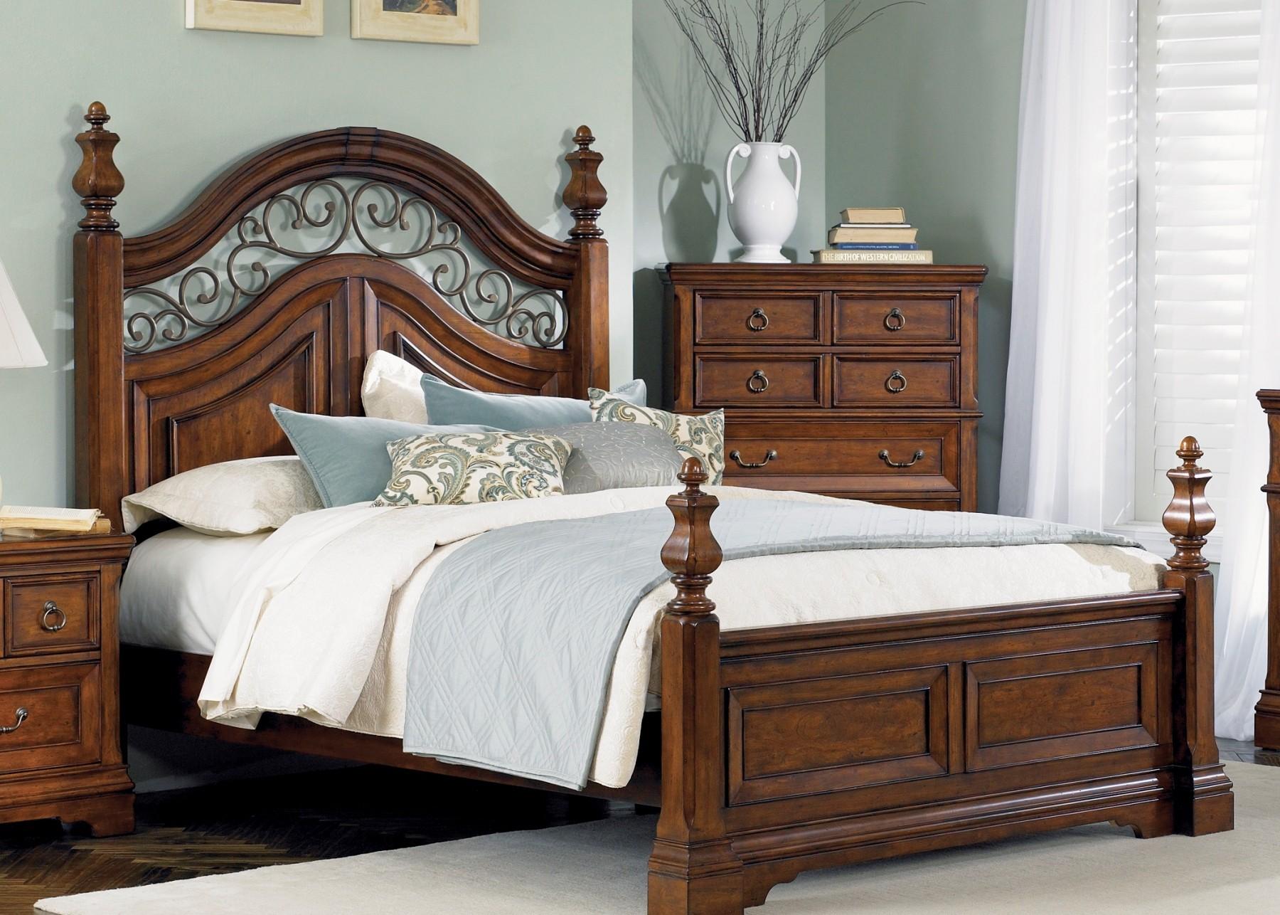 laurelwood king poster bedliberty furniture  547br