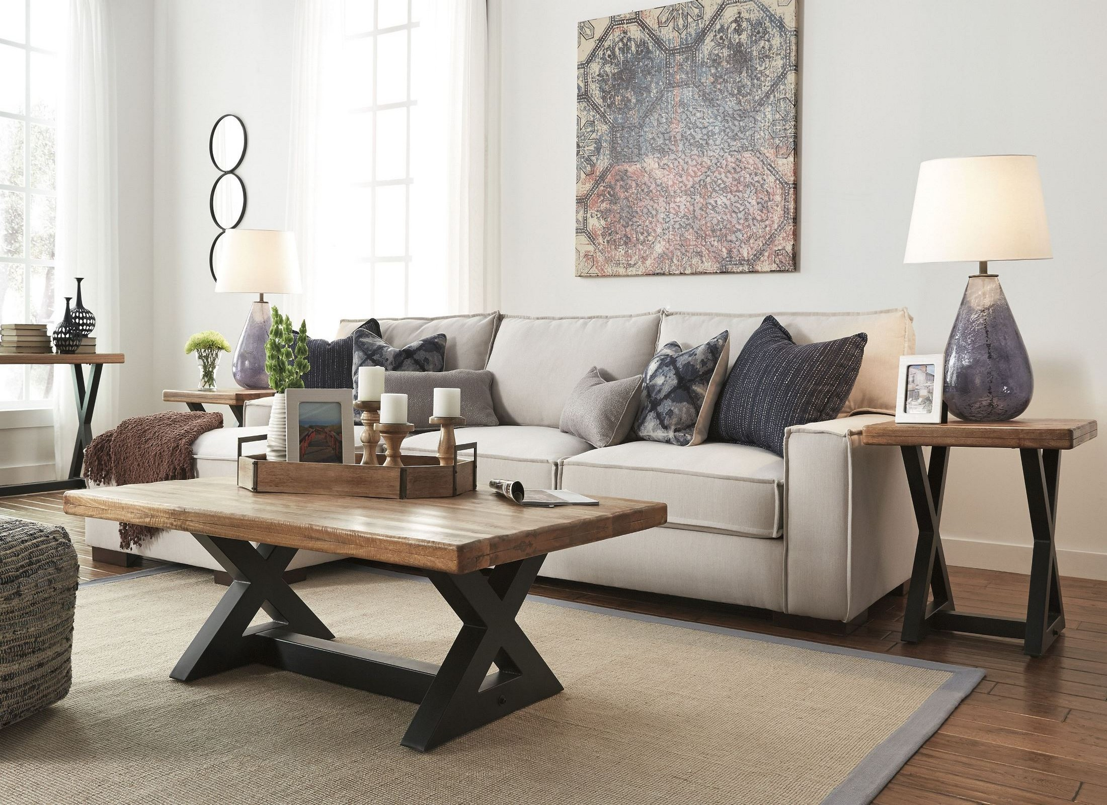 Wesling Light Brown Rectangular Cocktail Table From Ashley T - Ashley wesling coffee table