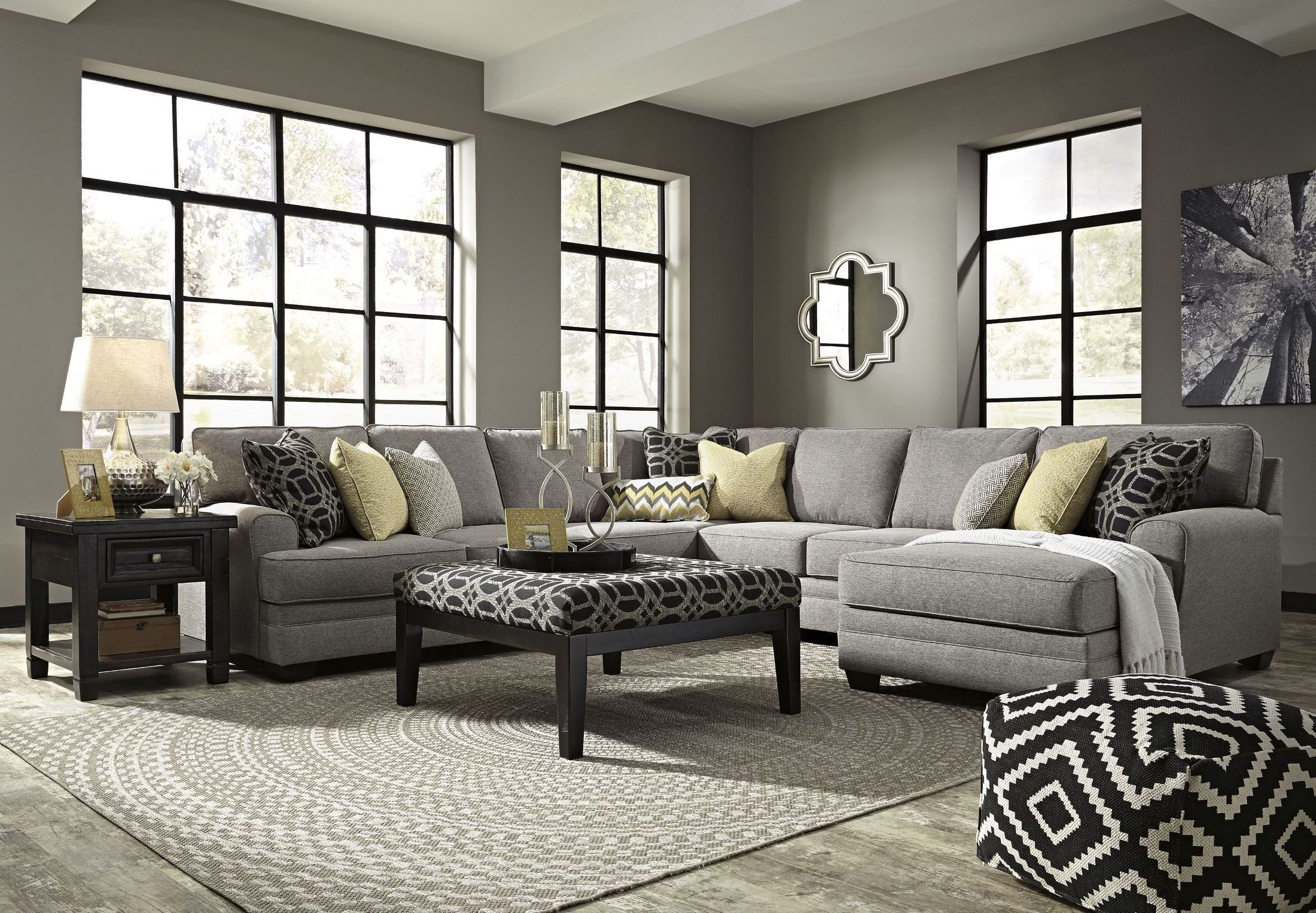 Cresson Pewter Raf Chaise Sectional 54907 Sec1 Ashley