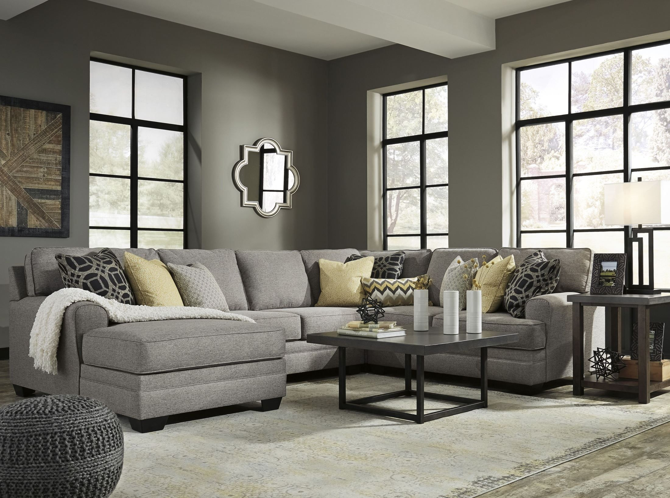 Cresson Pewter Laf Chaise Sectional 54907 Sec2 Ashley