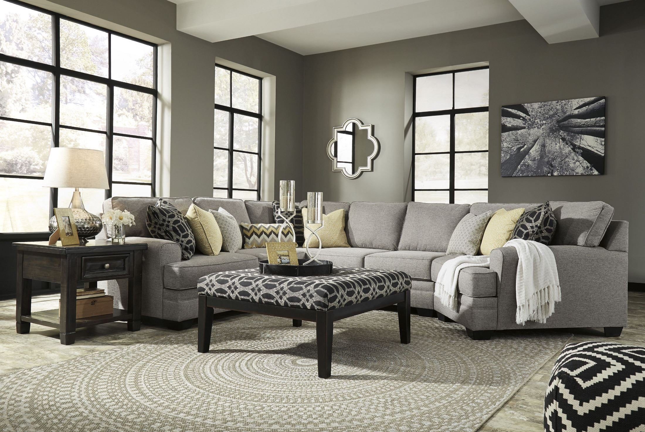 Cresson Pewter RAF Cuddler Sectional from Ashley