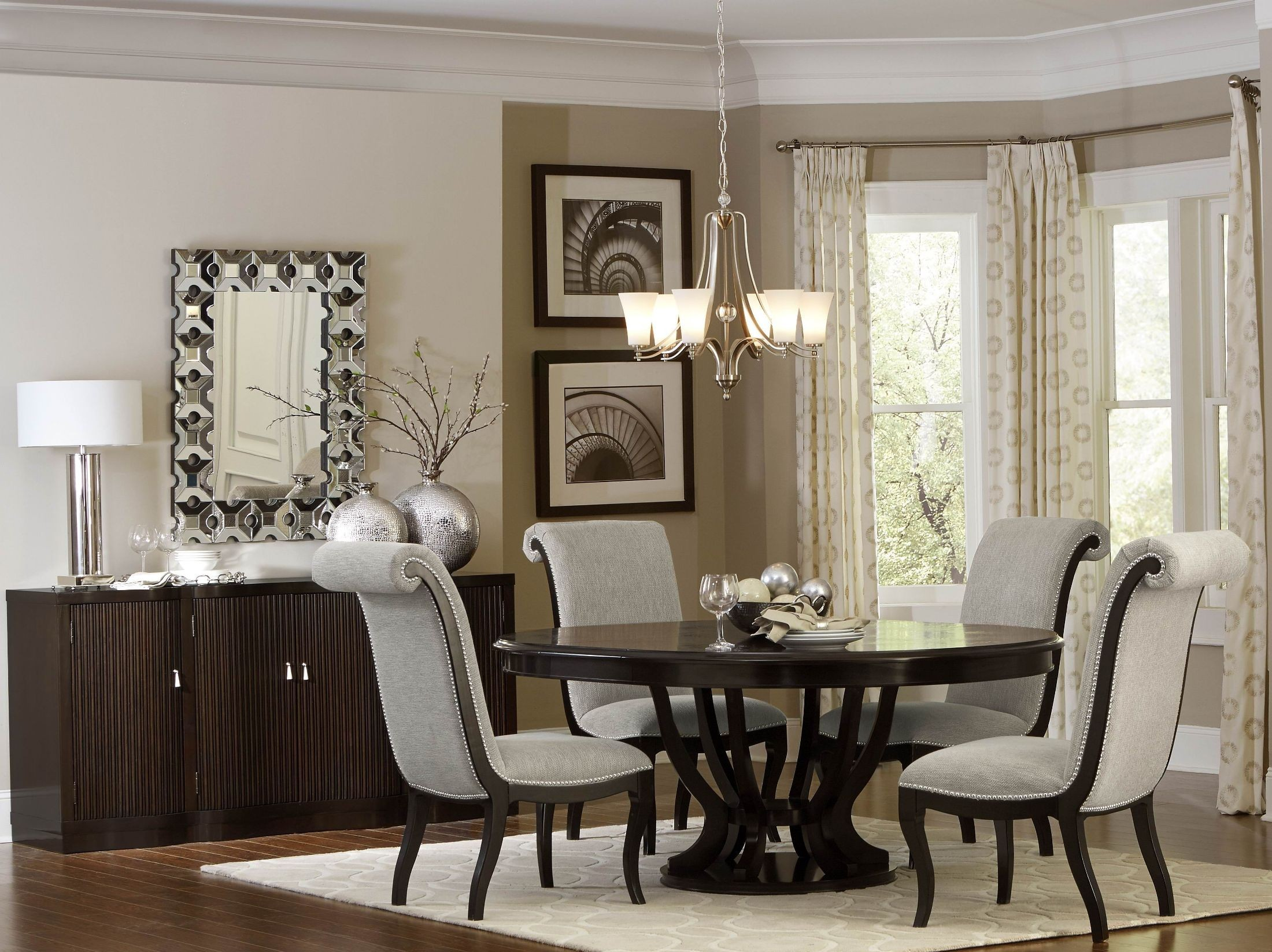 Savion Espresso Round Pedestal Extendable Dining Room Set From Homelegance Coleman Furniture