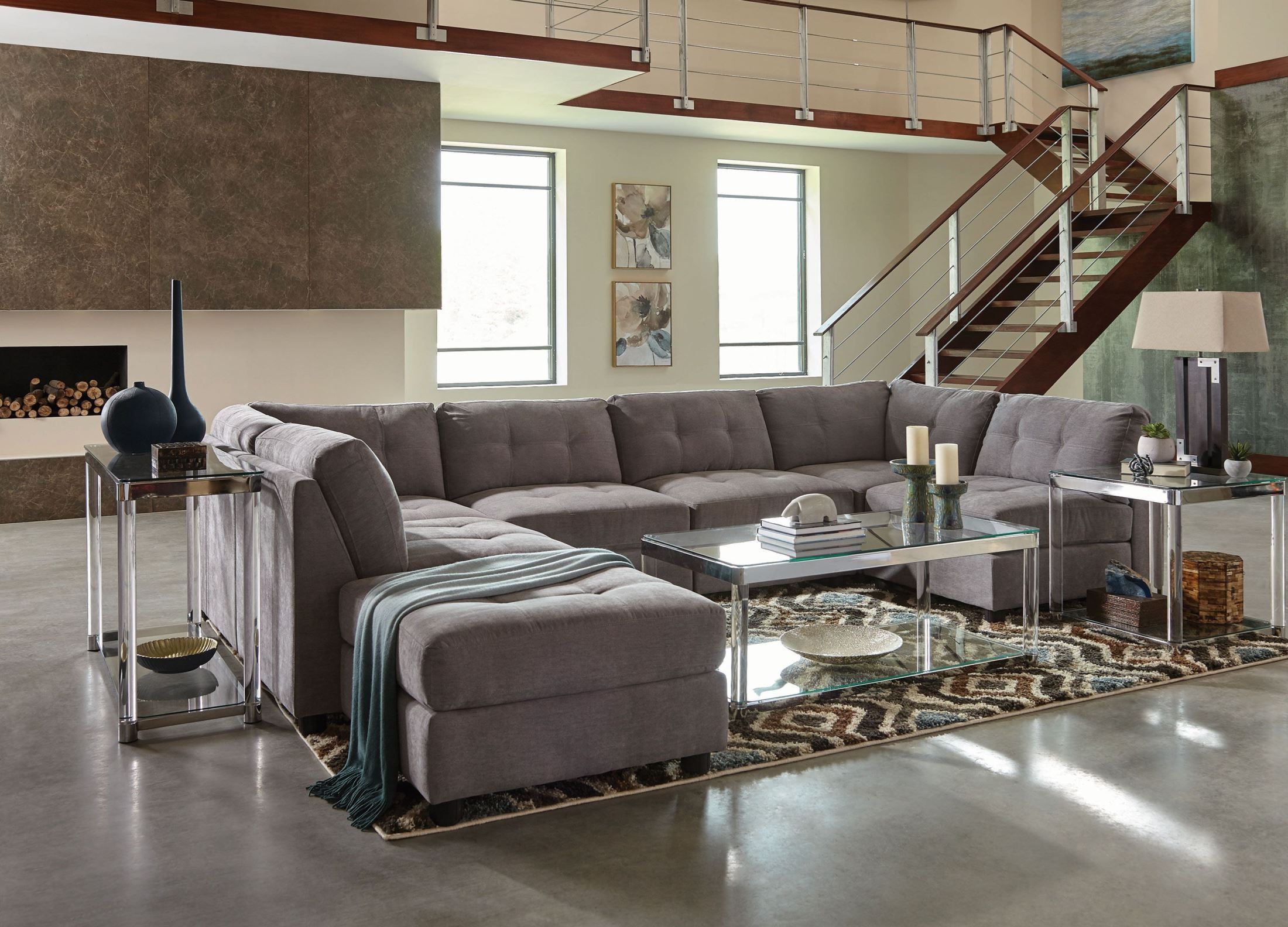Claude Gray Sectional from Coaster