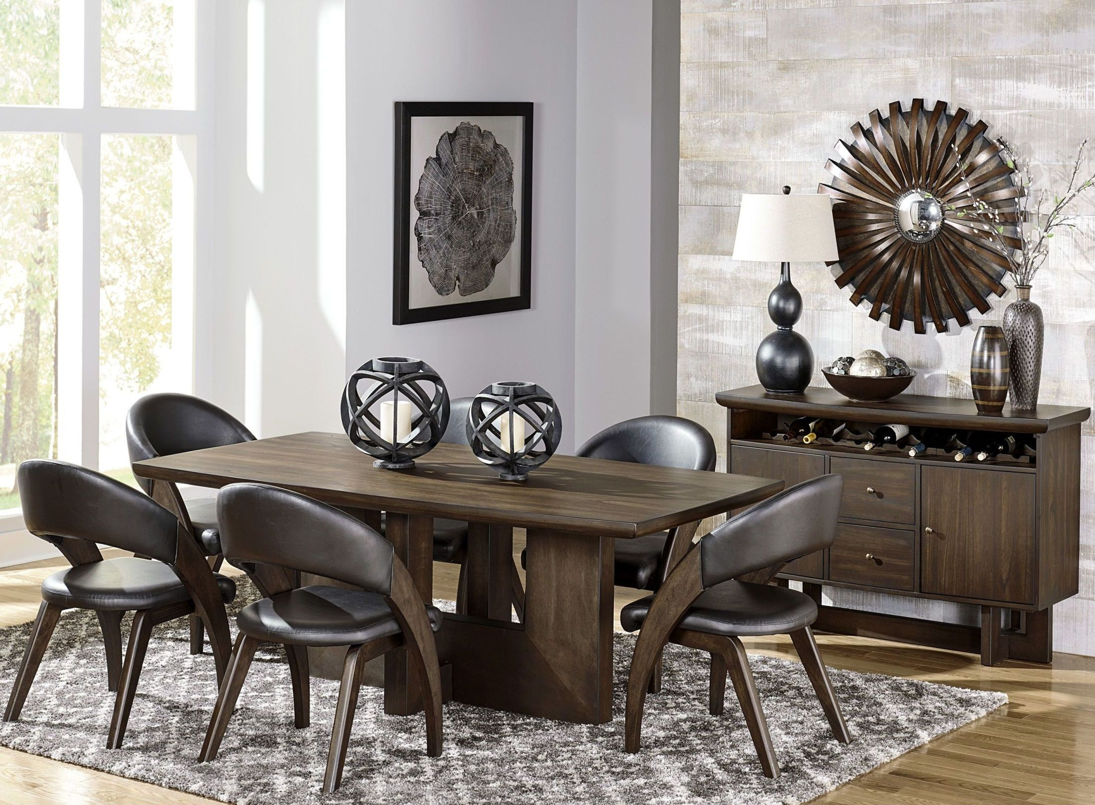 onofre brown dining room set from homelegance coleman