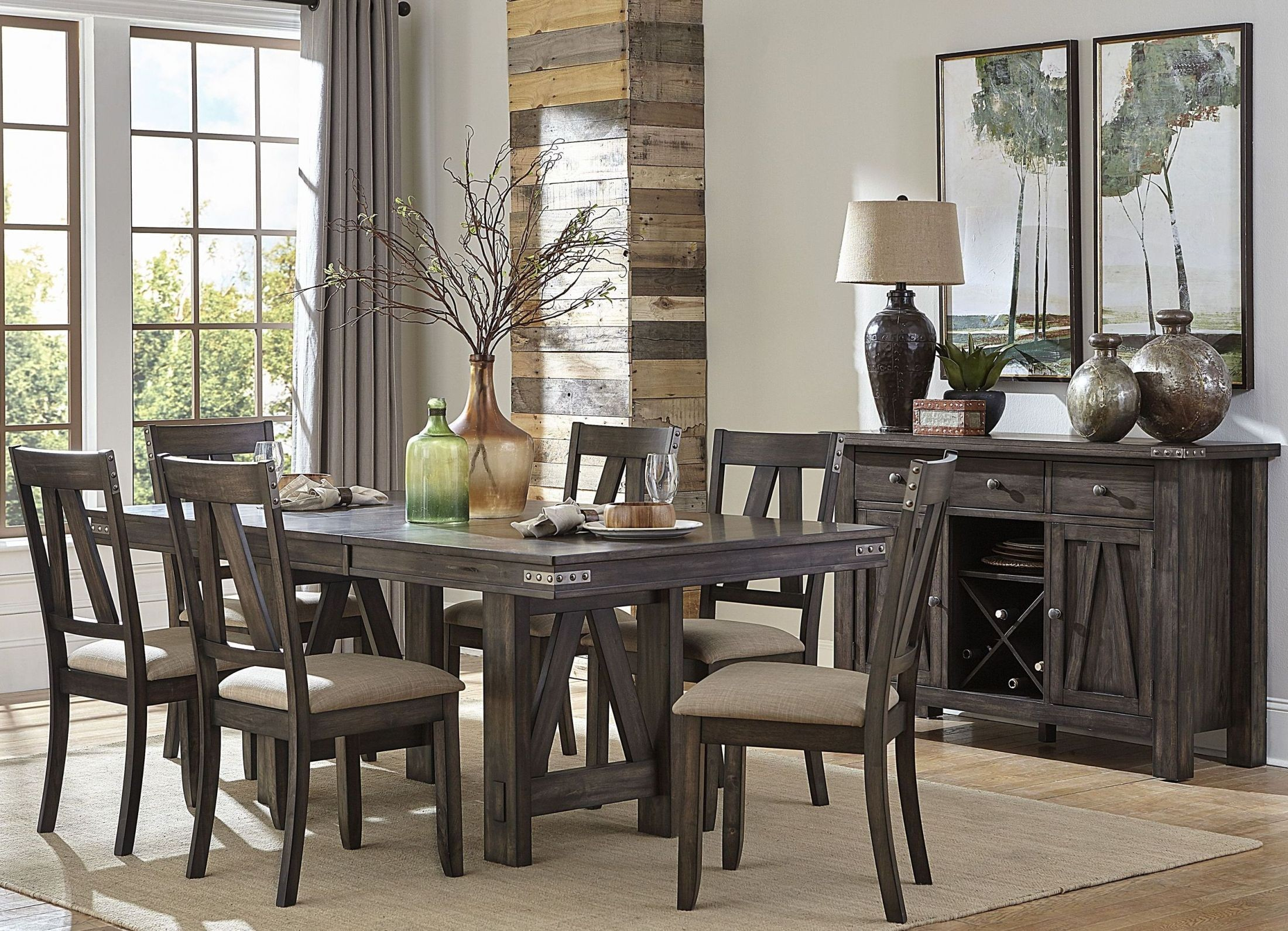Mattawa Brown Extendable Dining Room Set From Homelegance | Coleman  Furniture