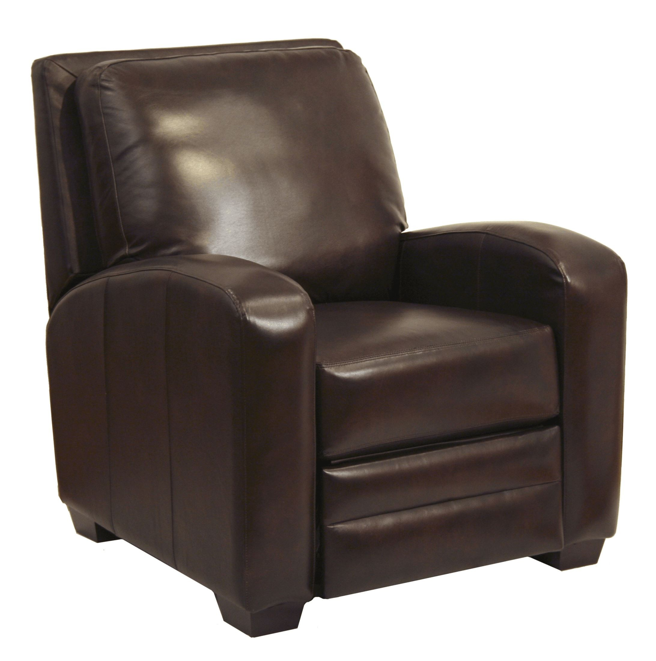Avanti chocolate leather recliner from catnapper for Catnapper cloud nine chaise recliner