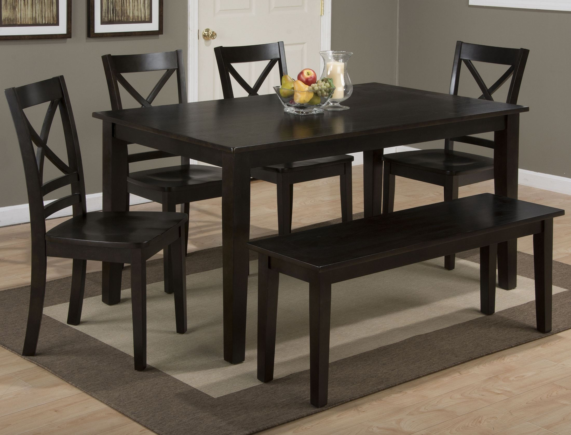 Simplicity Espresso Rectangular Dining Table From Jofran